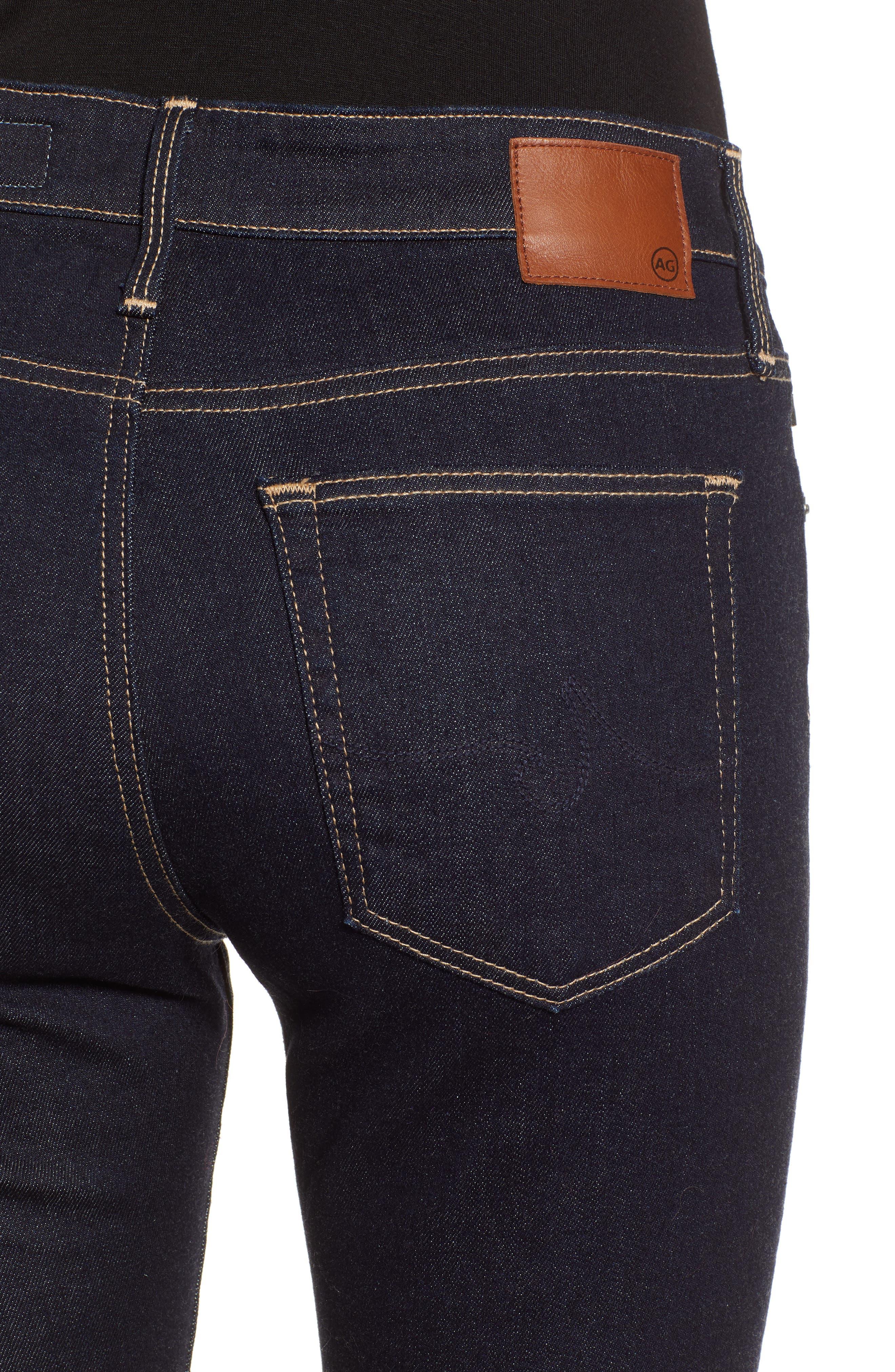 AG, The Farrah Ankle Skinny Jeans, Alternate thumbnail 5, color, INDIGO SPRING