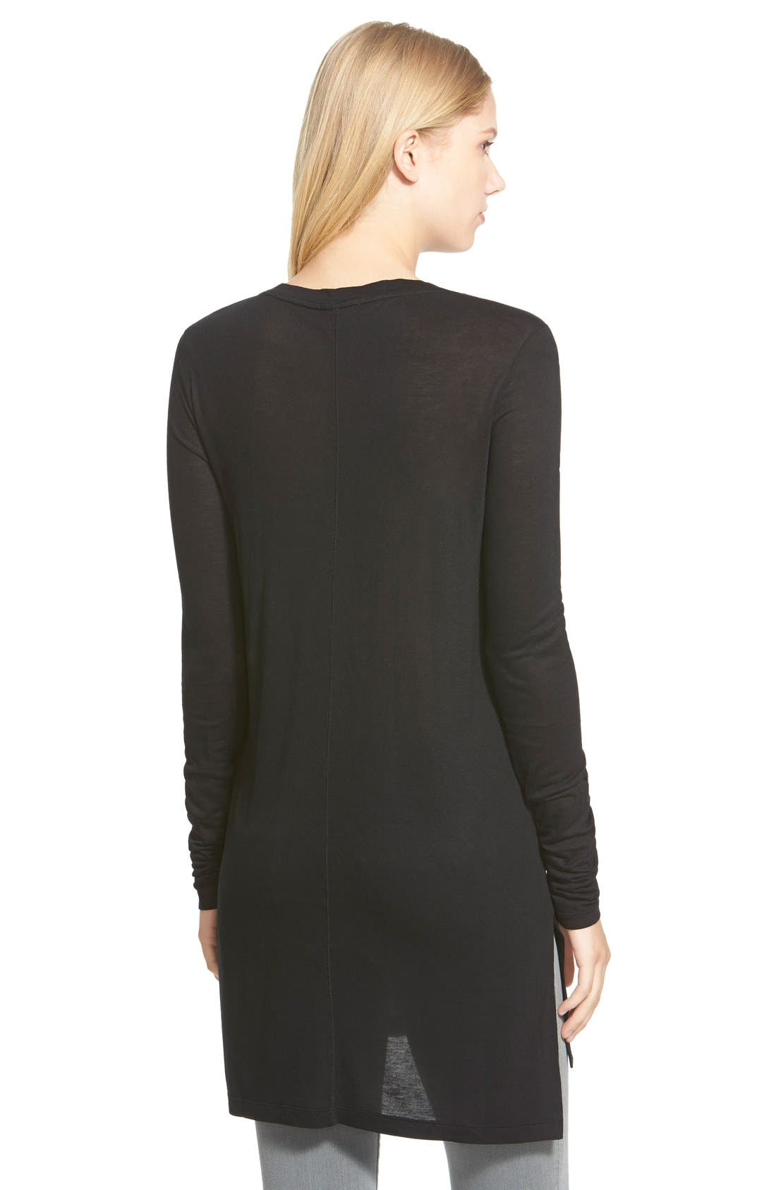 HALOGEN<SUP>®</SUP>, Long Sleeve Lightweight Tunic, Alternate thumbnail 9, color, 001