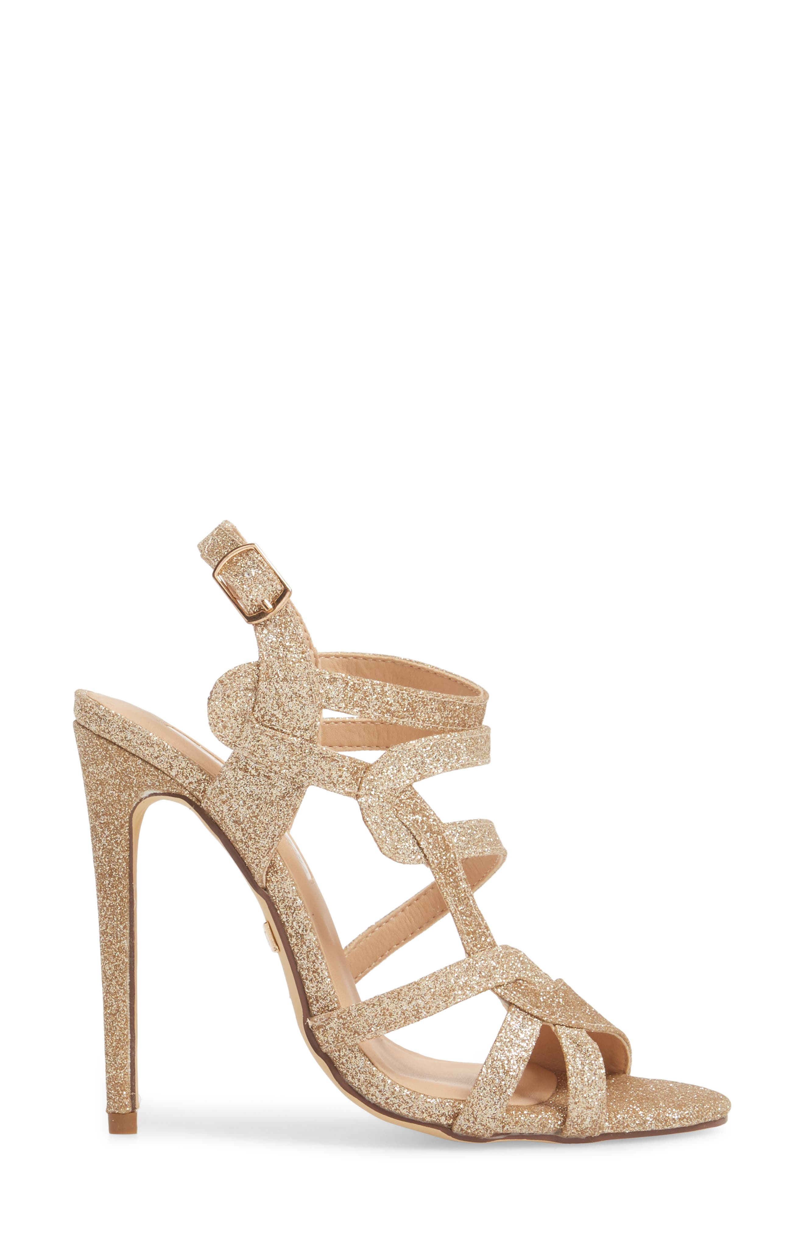 LAUREN LORRAINE, Gidget Sandal, Alternate thumbnail 3, color, NUDE FABRIC