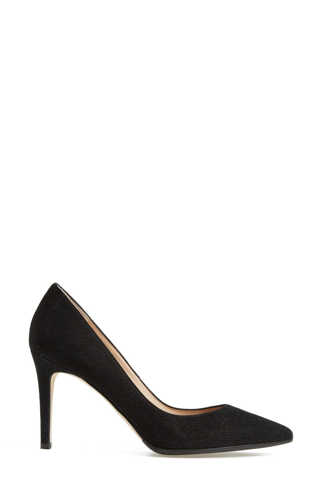 AQUATALIA, 'Harlee' Weatherproof Pointy Toe Pump, Alternate thumbnail 2, color, 001