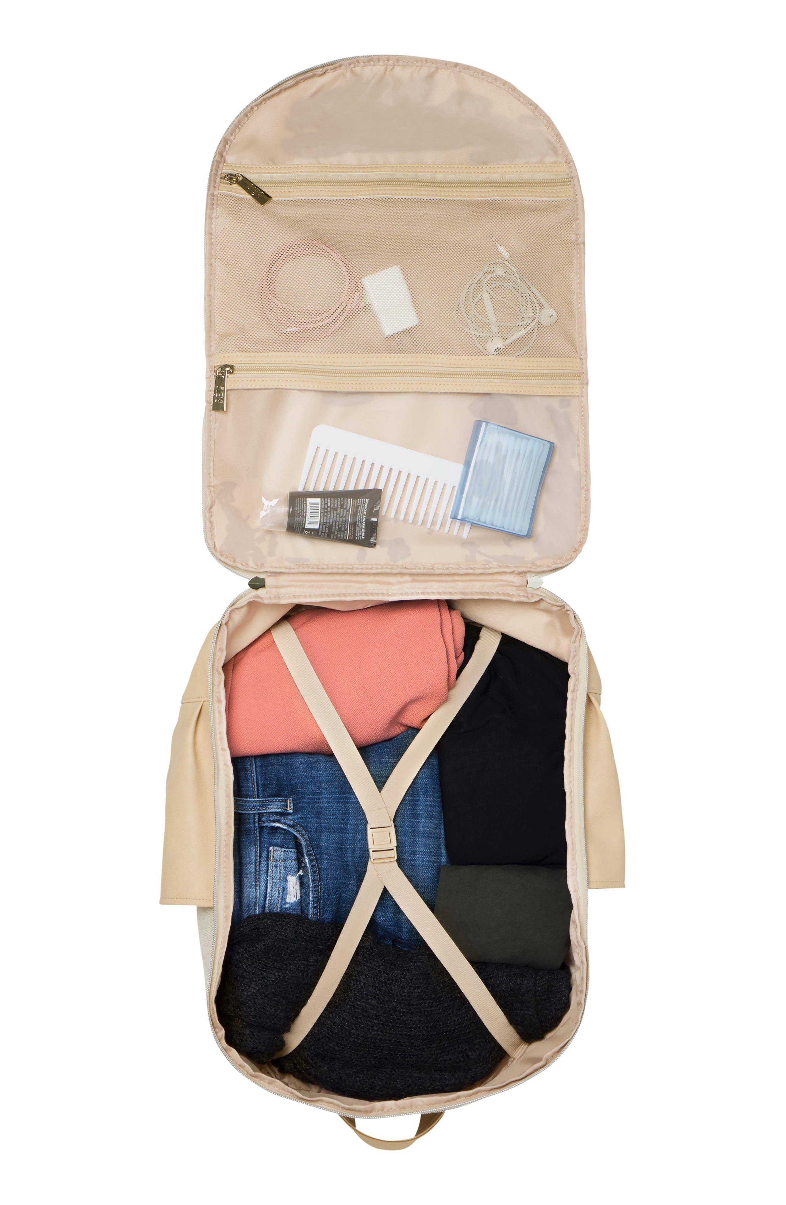 BÉIS, Travel Multi Function Travel Backpack, Alternate thumbnail 4, color, BEIGE