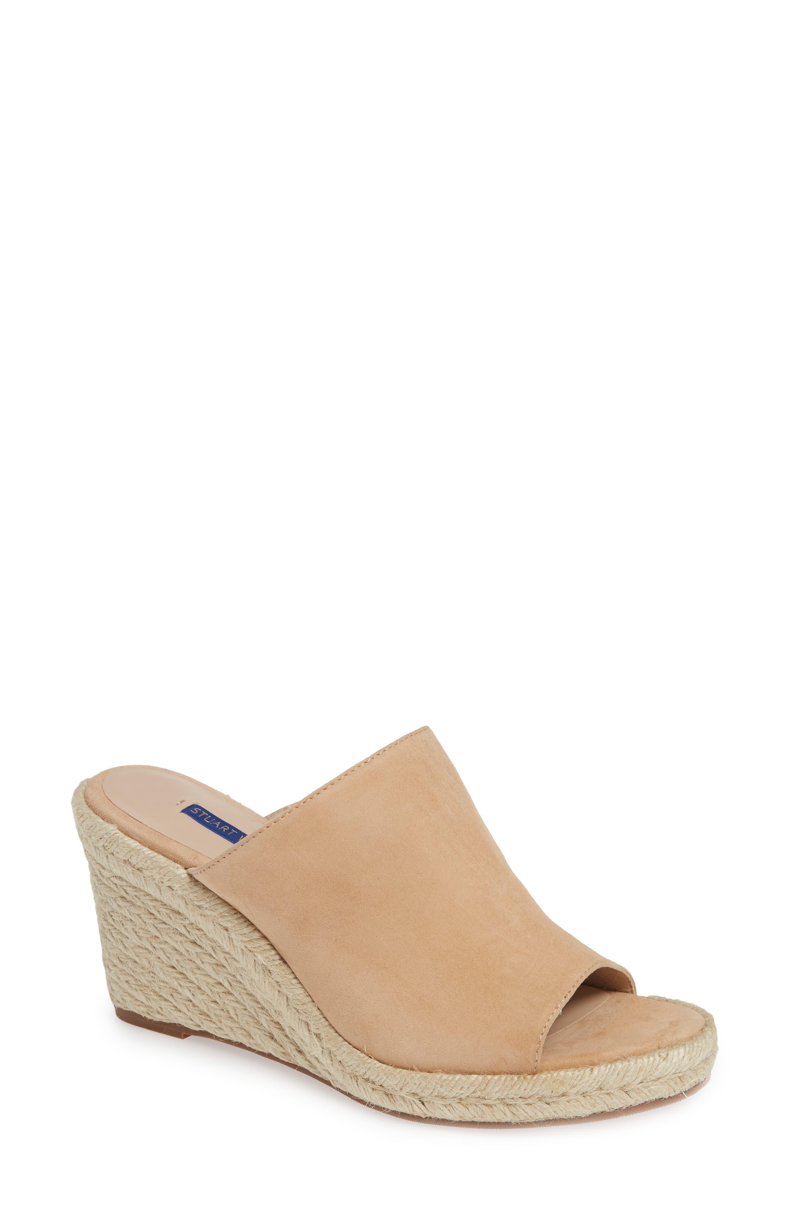 STUART WEITZMAN Marabella Slide Espadrille Sandal, Main, color, ADOBE SUEDE