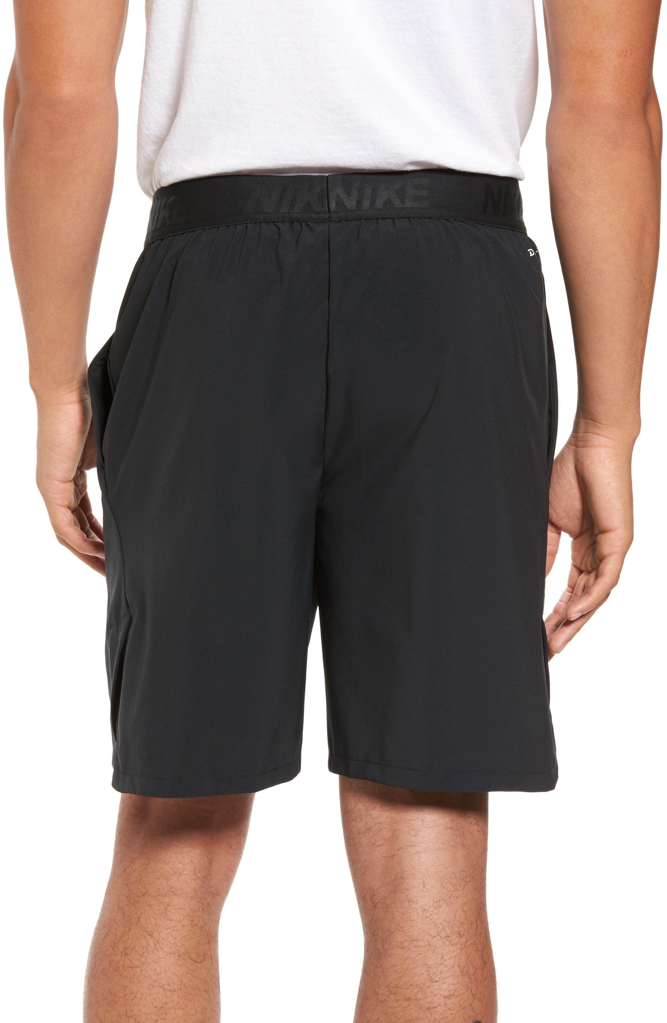 NIKE, Flex Vent Max Shorts, Alternate thumbnail 2, color, BLACK/ METALLIC HEMATITE