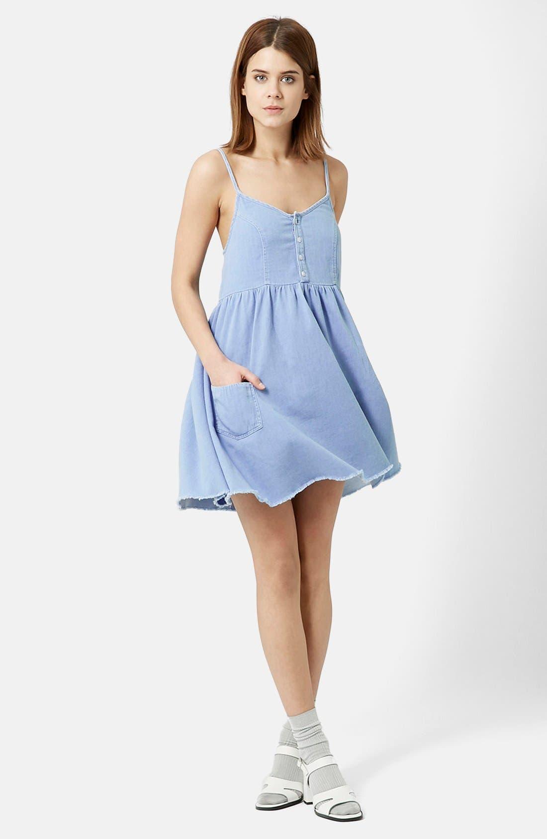 TOPSHOP Babydoll Sundress, Main, color, 420