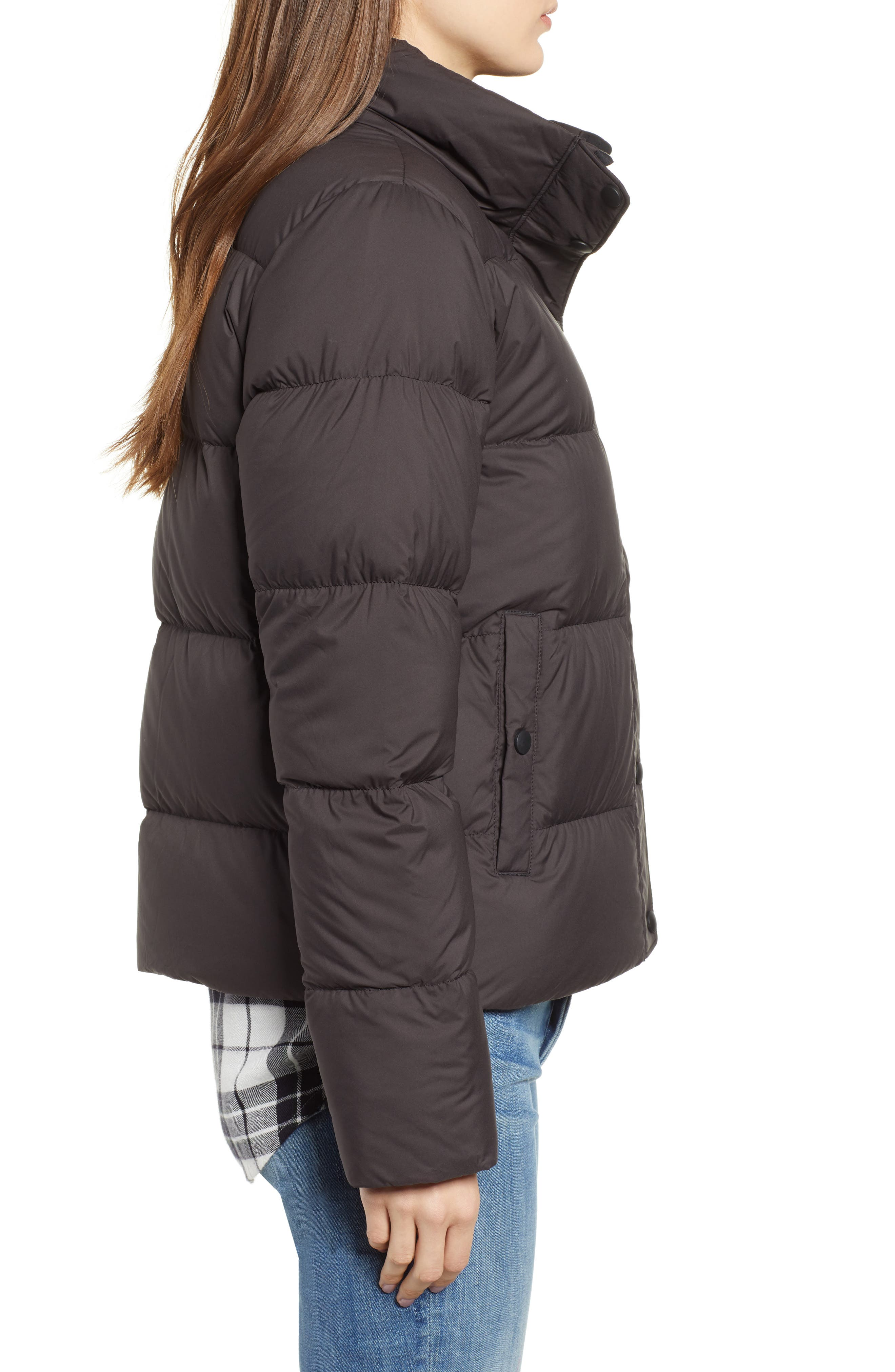 PATAGONIA, Silent Water Repellent 700-Fill Power Down Insulated Jacket, Alternate thumbnail 4, color, BLACK
