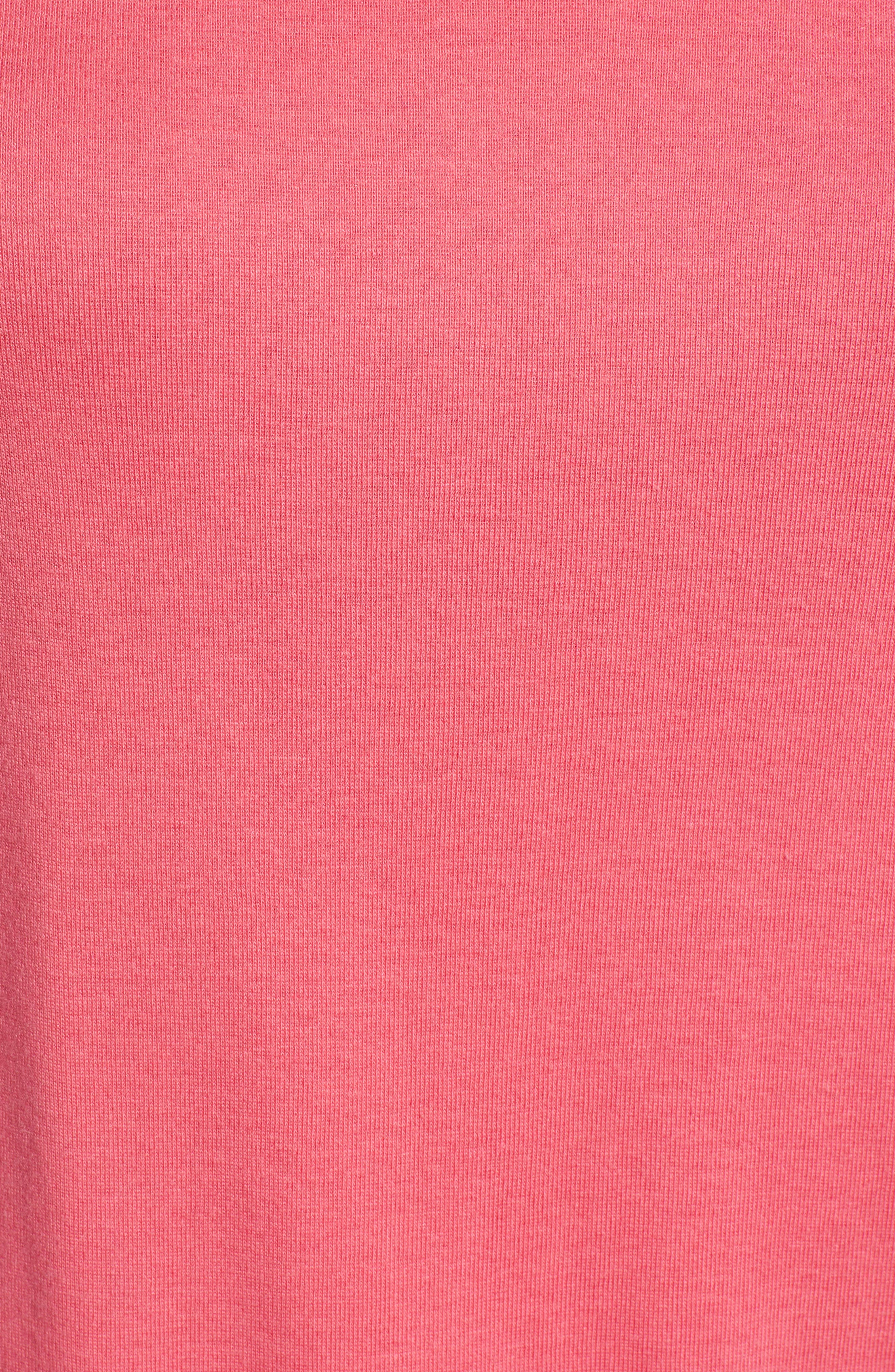 CASLON<SUP>®</SUP>, Sweatshirt, Alternate thumbnail 5, color, PINK HONEY