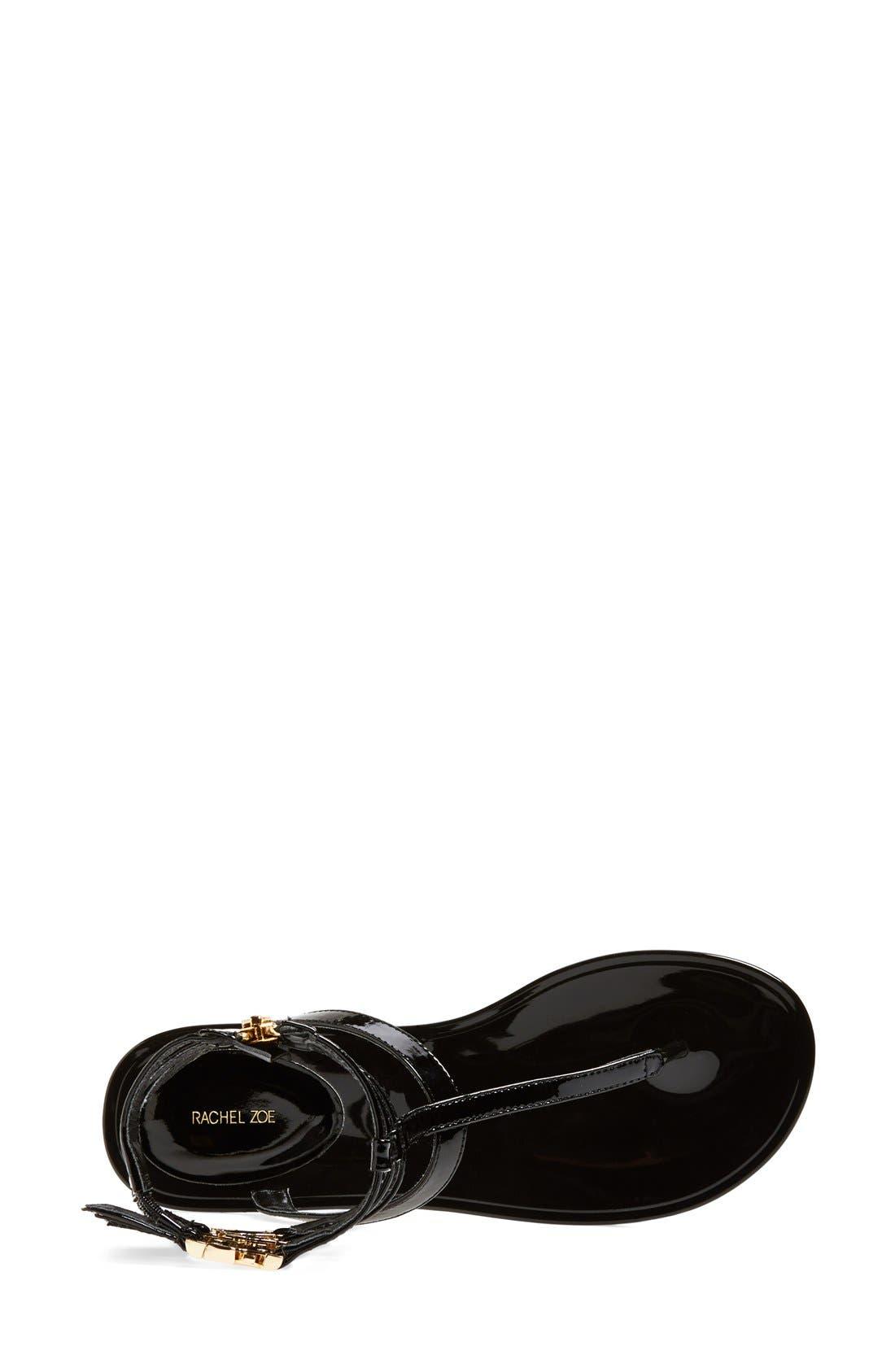 RACHEL ZOE, 'Cecille' Leather Ankle Strap Sandal, Alternate thumbnail 2, color, 001