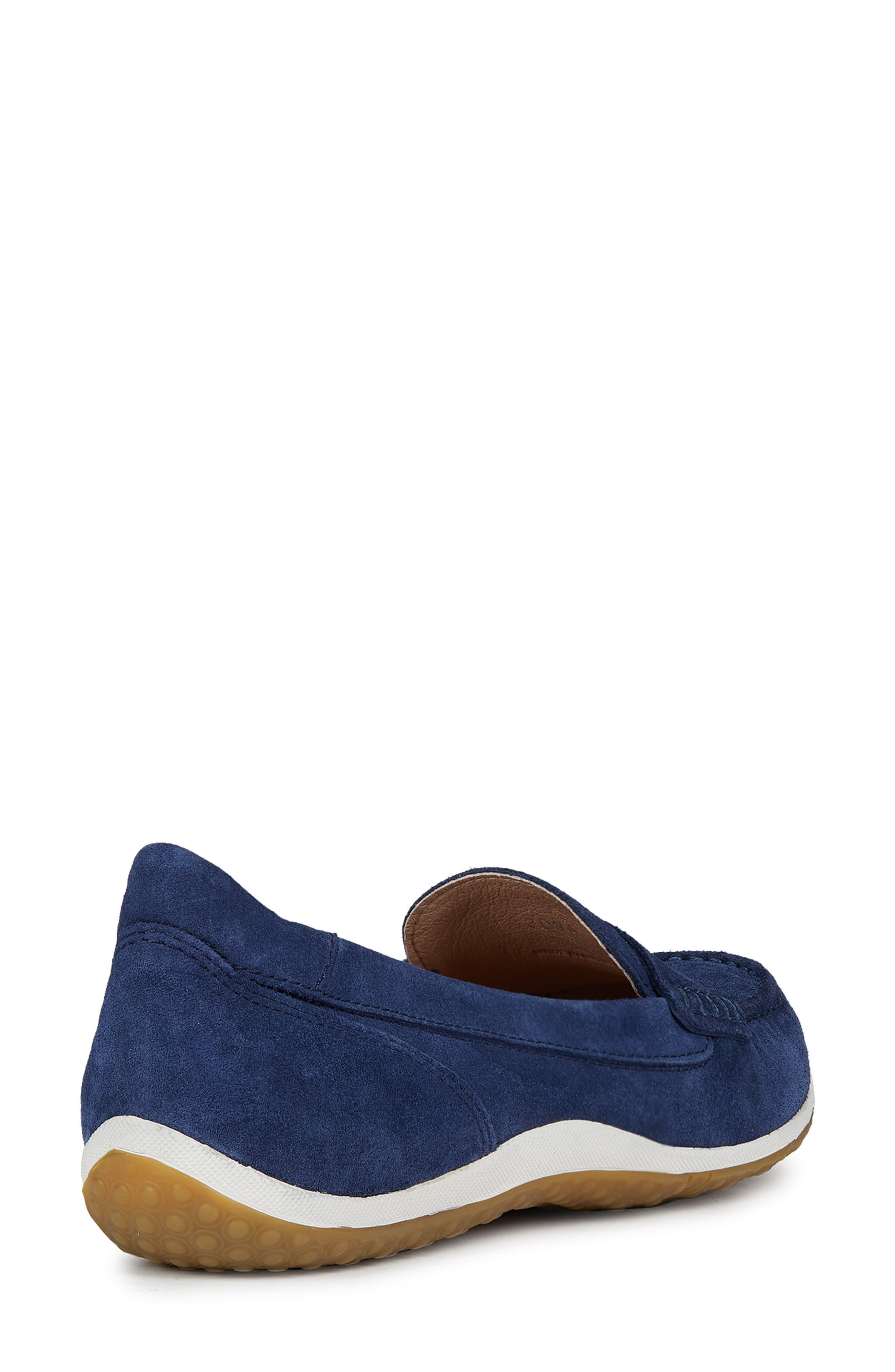 GEOX, Vega Moc Loafer, Alternate thumbnail 7, color, BLUE SUEDE
