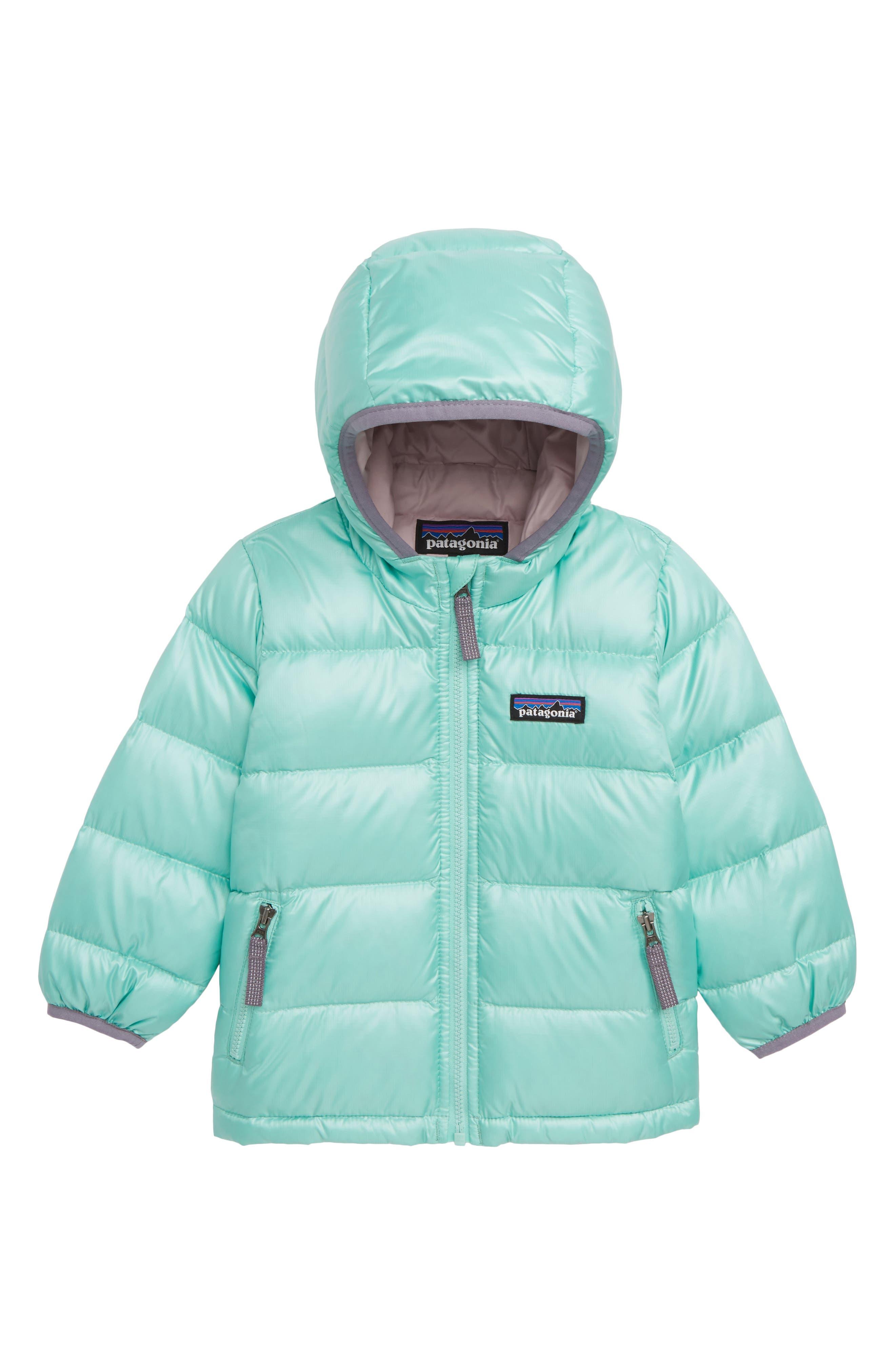 PATAGONIA Hooded Down Jacket, Main, color, VJOSA GREEN