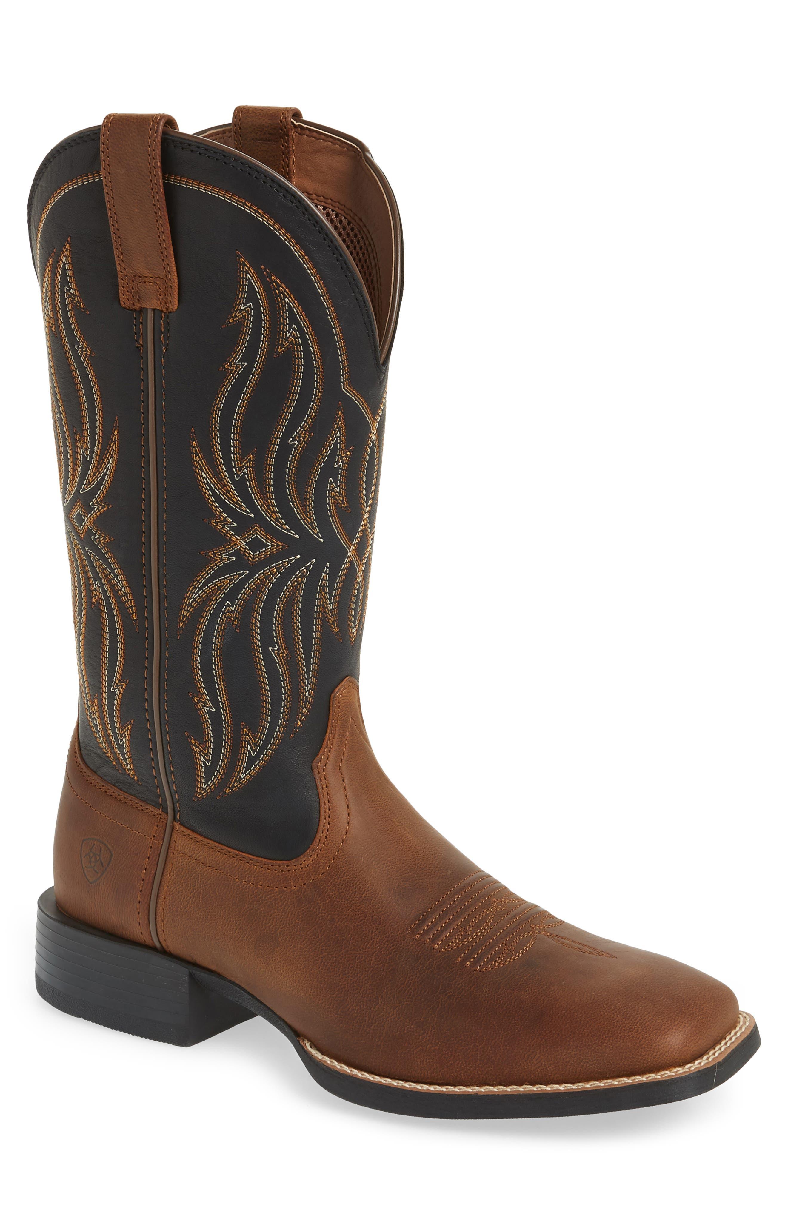 Ariat Sport Rustler Cowboy Boot, Brown