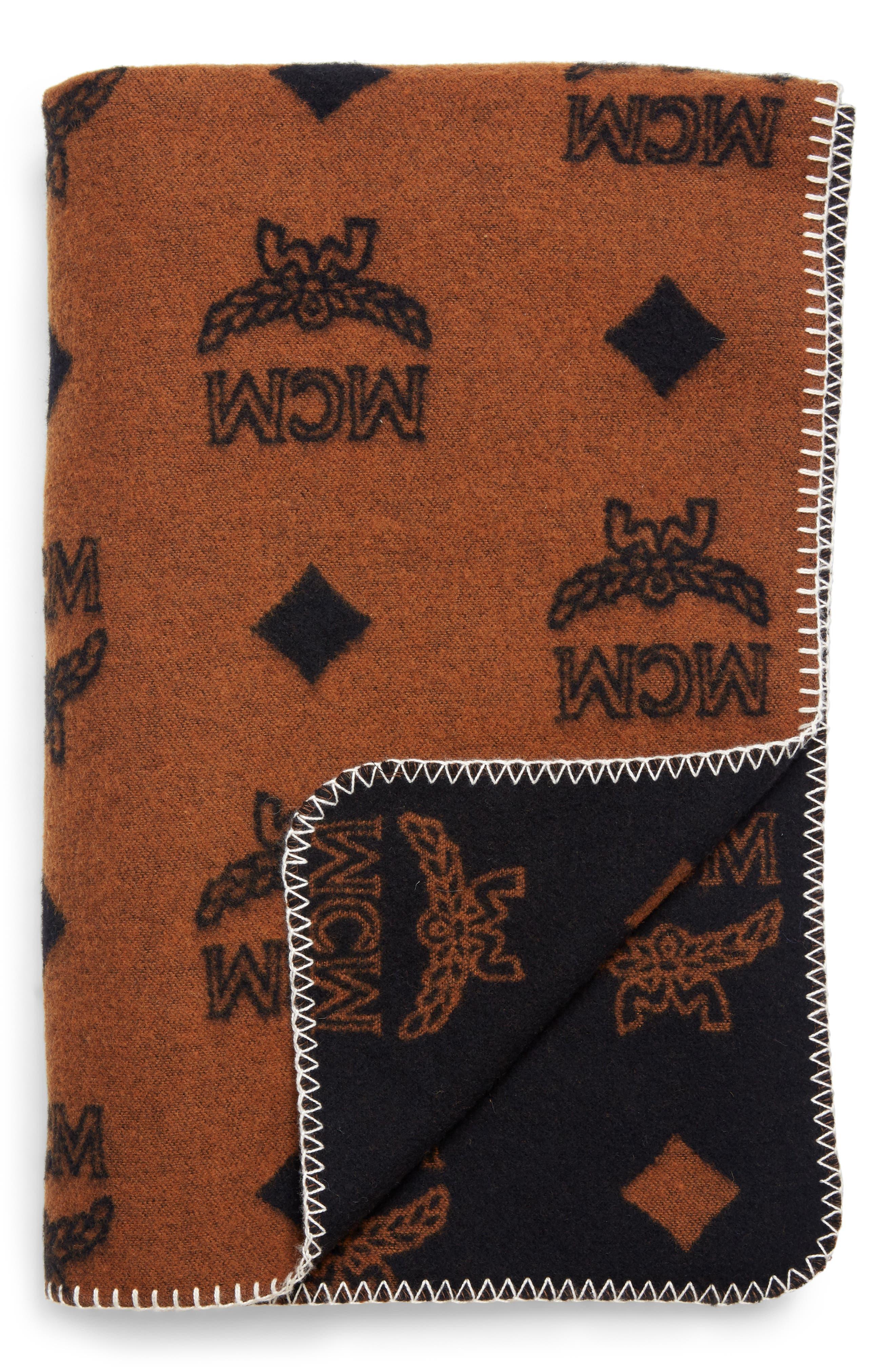MCM Wool Blend Throw Blanket, Main, color, 200