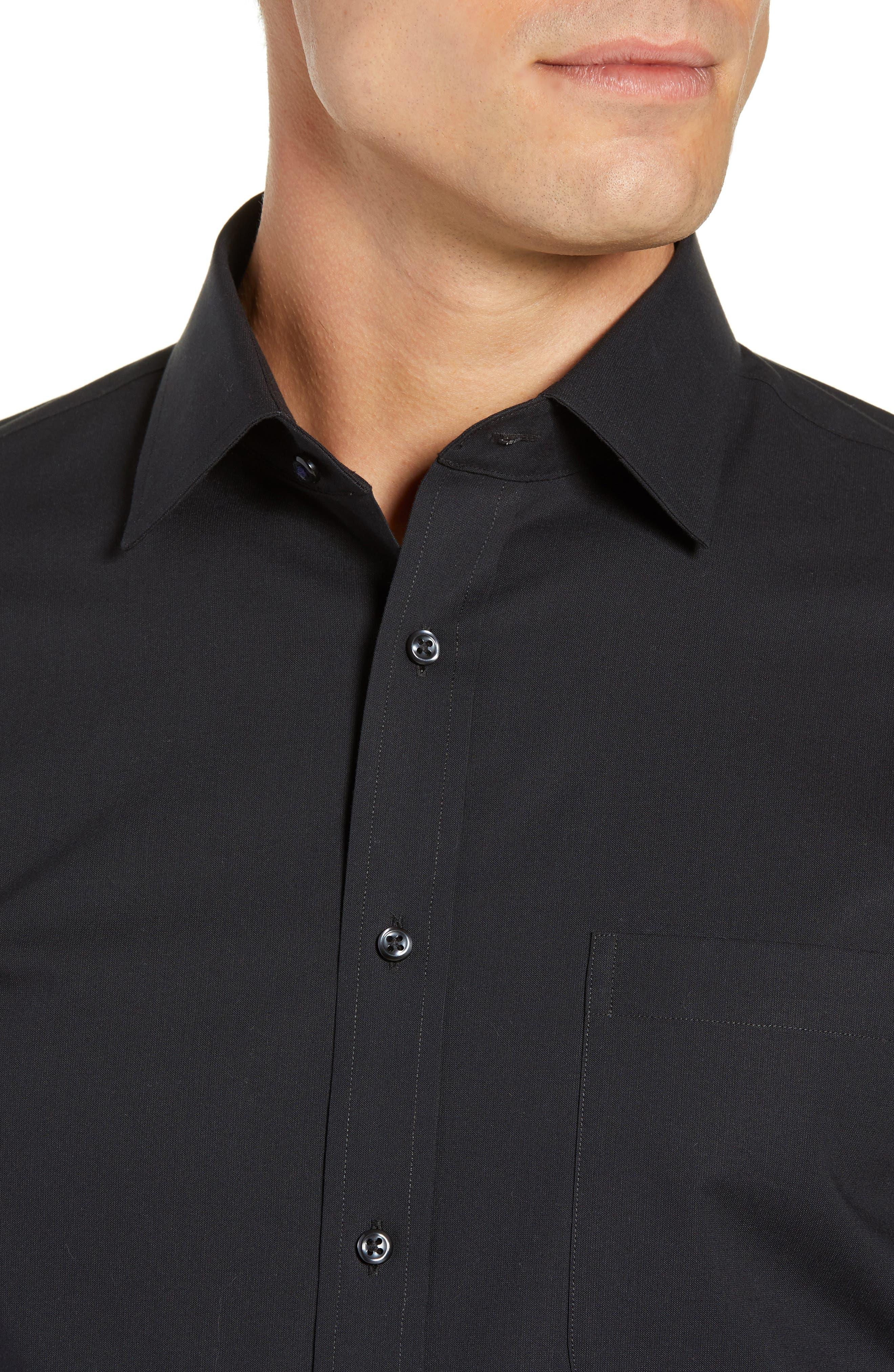 NORDSTROM MEN'S SHOP, Tech-Smart Traditional Fit Stretch Pinpoint Dress Shirt, Alternate thumbnail 2, color, BLACK ROCK