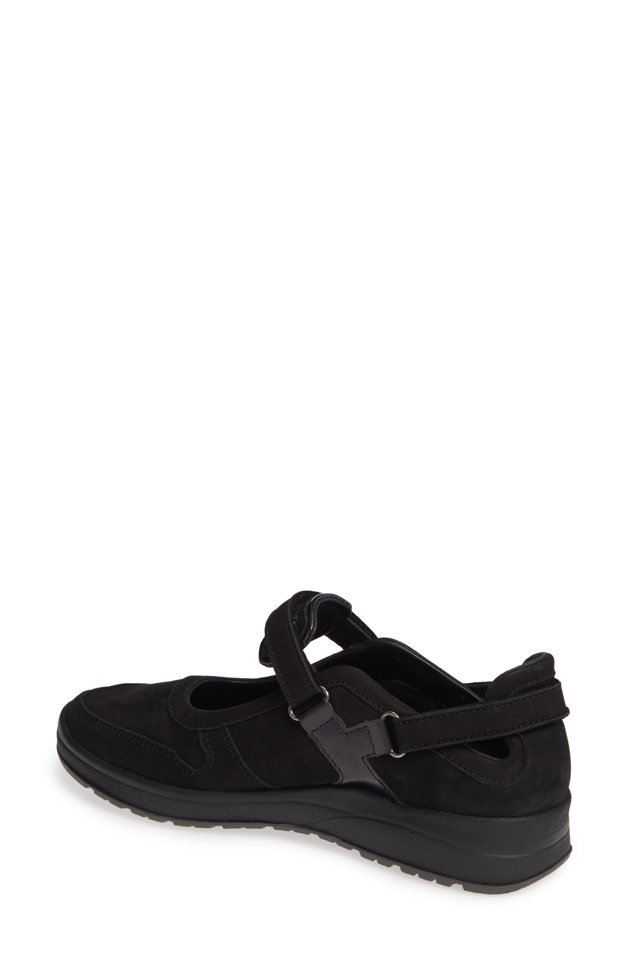 MEPHISTO, Rejine Sneaker, Alternate thumbnail 2, color, BLACK FABRIC