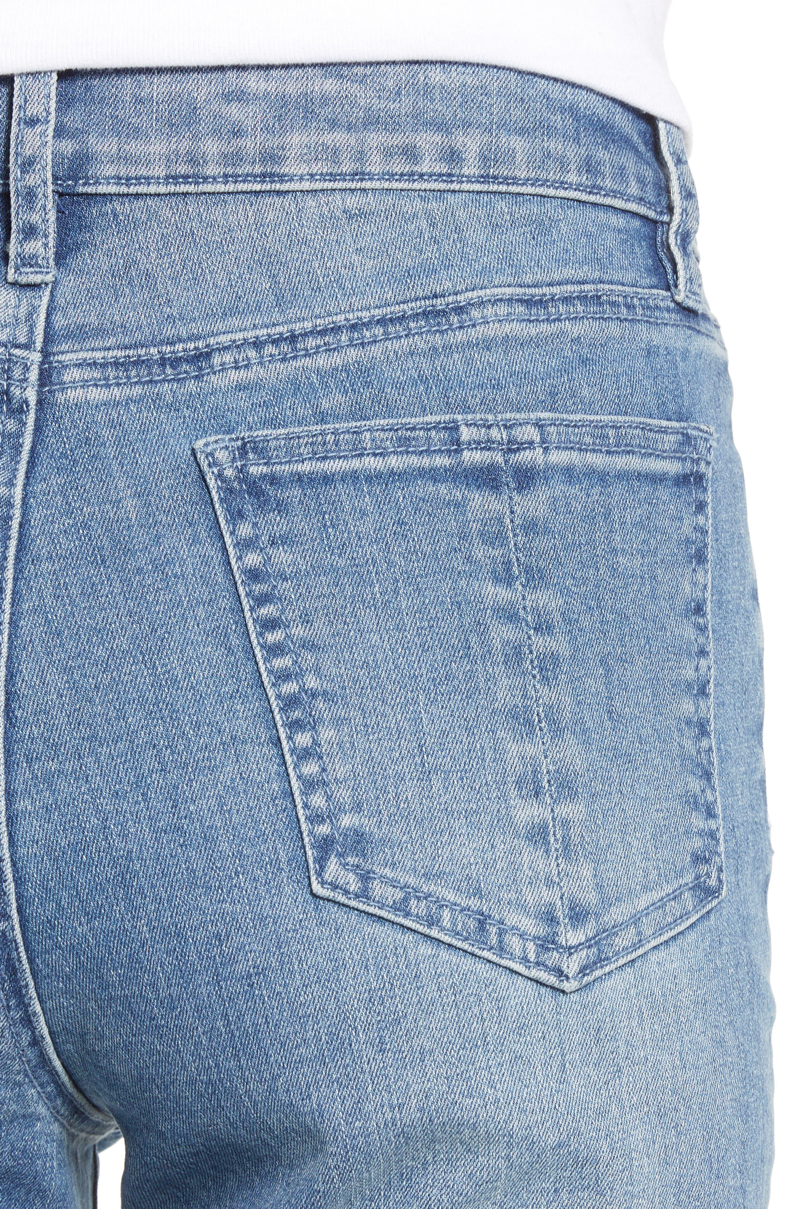 PROSPERITY DENIM, Pintuck Flare Jeans, Alternate thumbnail 5, color, KARLA WASH