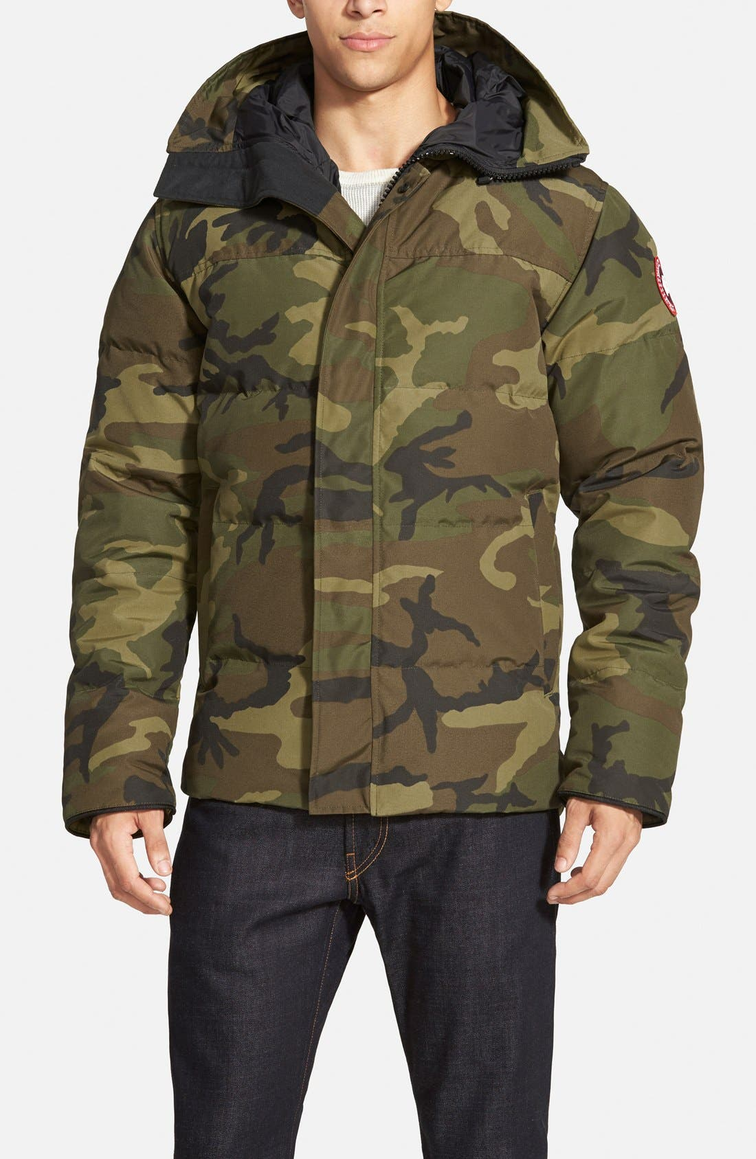 CANADA GOOSE 'MacMillan' Slim Fit Hooded Parka, Main, color, CLASSIC CAMO