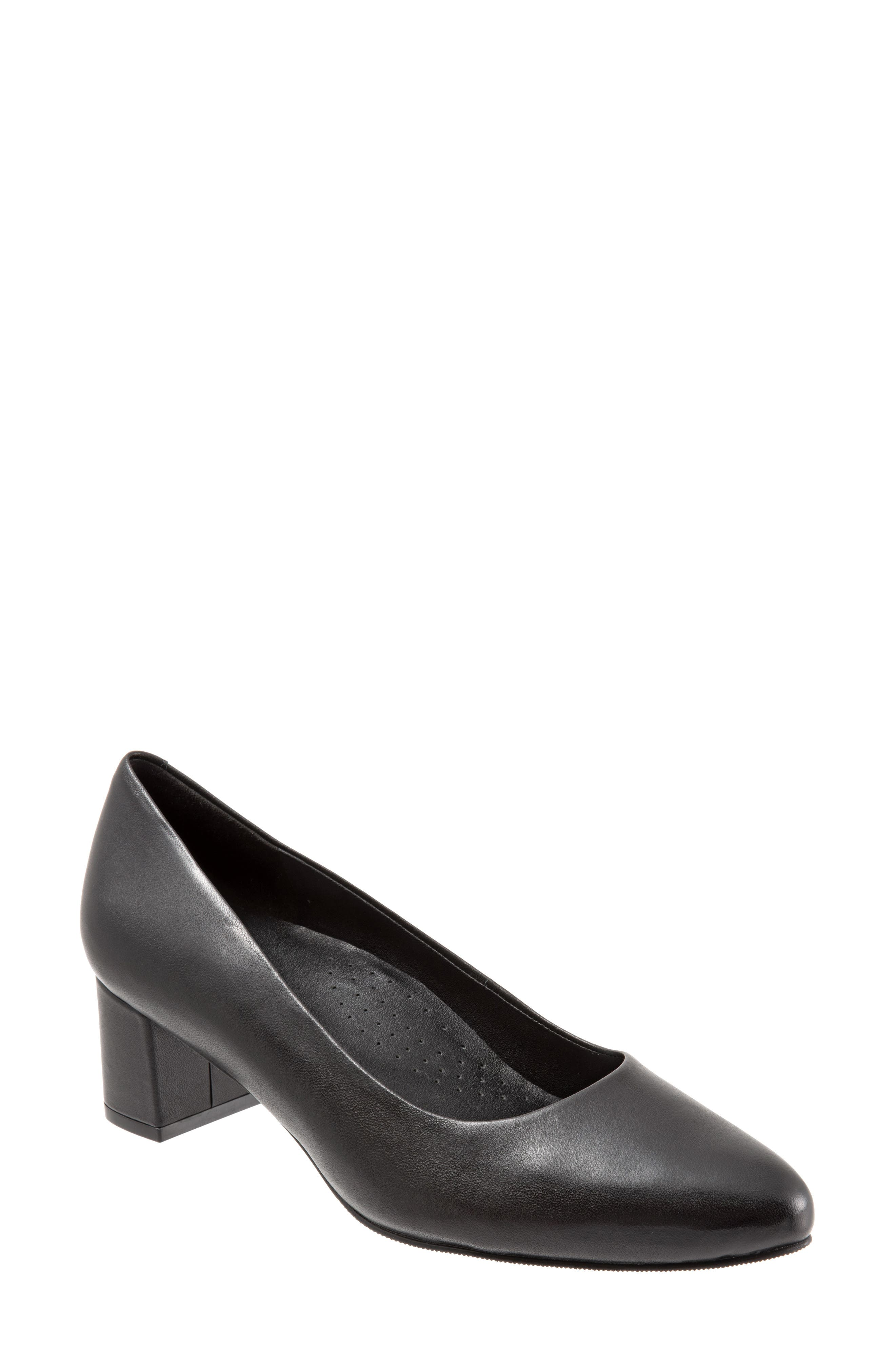 TROTTERS Kari Pointy Toe Pump, Main, color, BLACK LEATHER