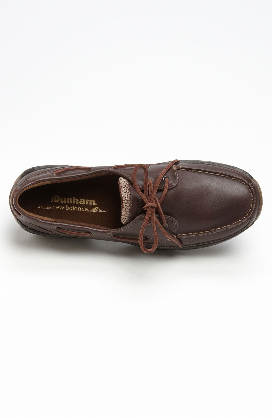 DUNHAM, 'Shoreline' Boat Shoe, Alternate thumbnail 4, color, BROWN LEATHER