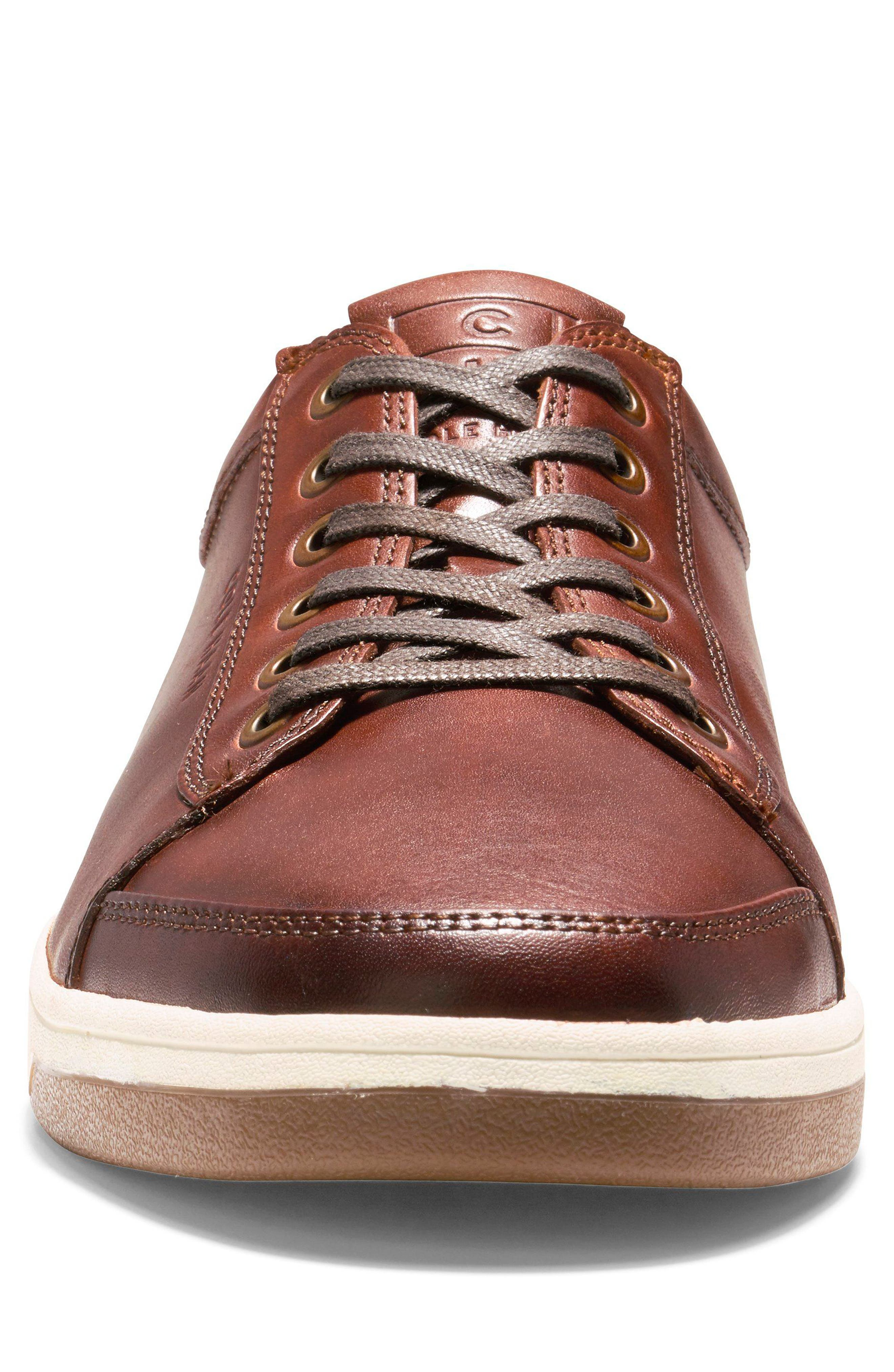 COLE HAAN, GrandPro Spectator Sneaker, Alternate thumbnail 4, color, WOODBURY LEATHER