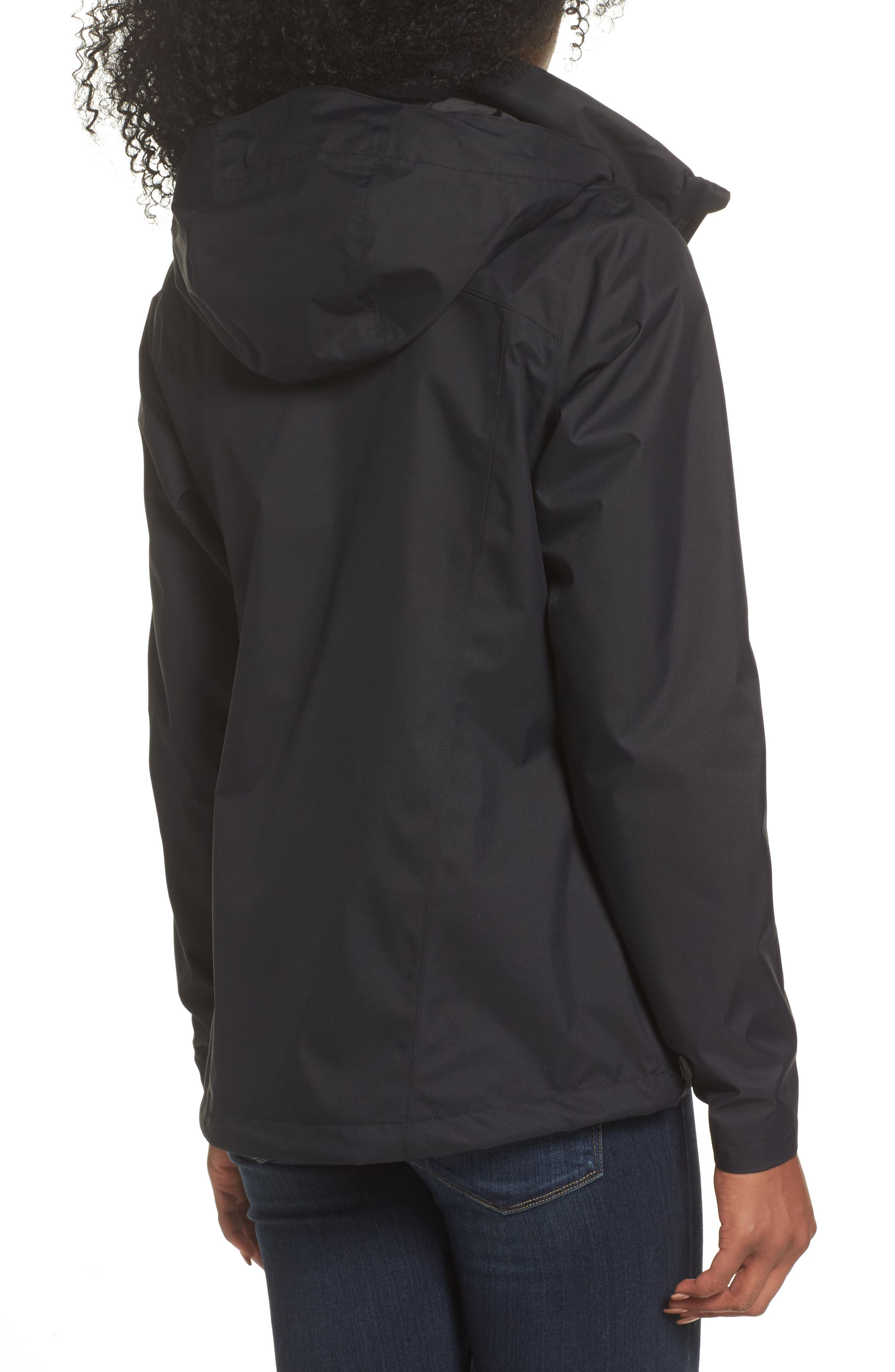 THE NORTH FACE, Resolve Plus Waterproof Jacket, Alternate thumbnail 2, color, TNF BLACK