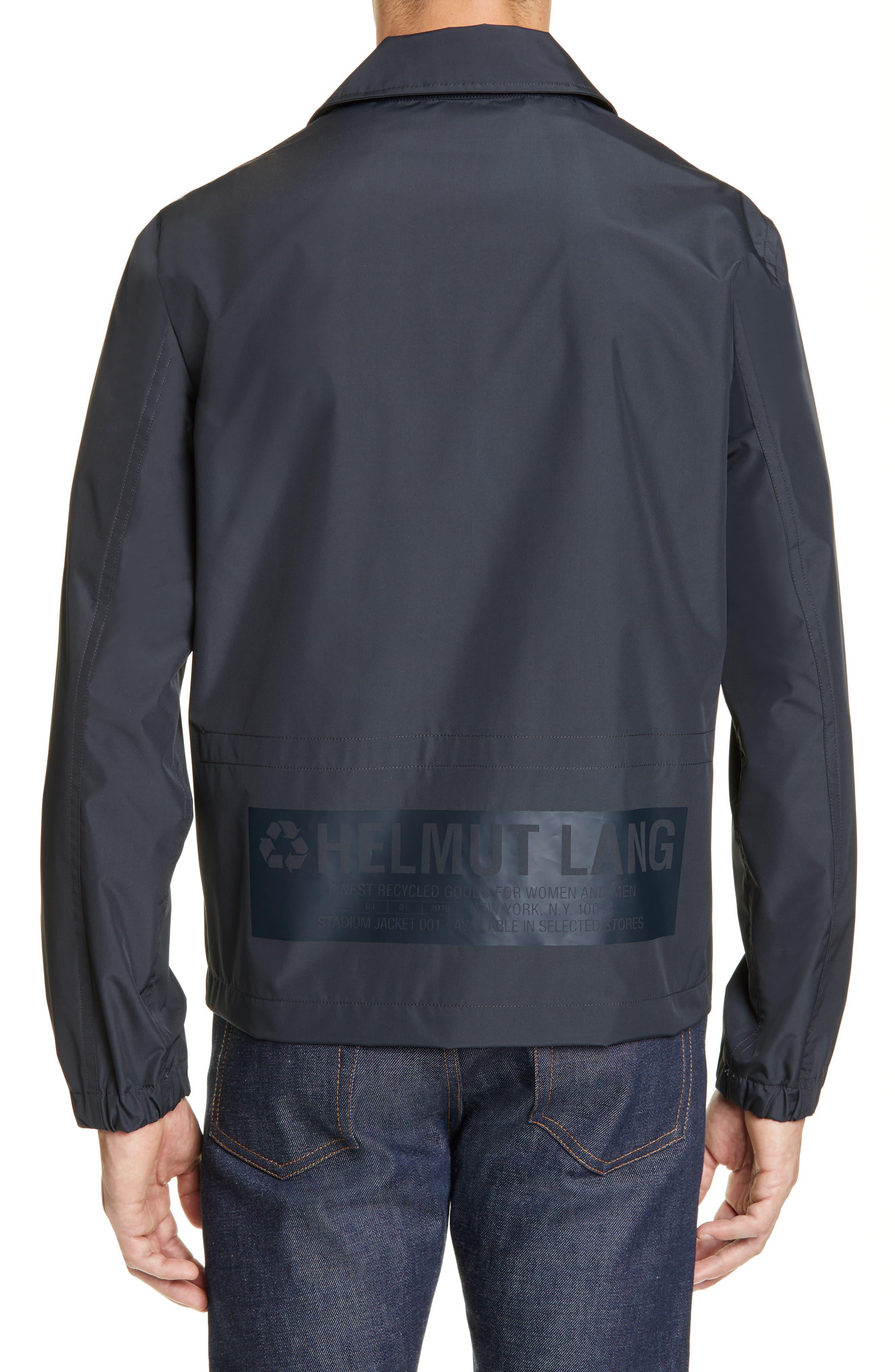 HELMUT LANG, Stadium Coach's Jacket, Alternate thumbnail 2, color, BLACK