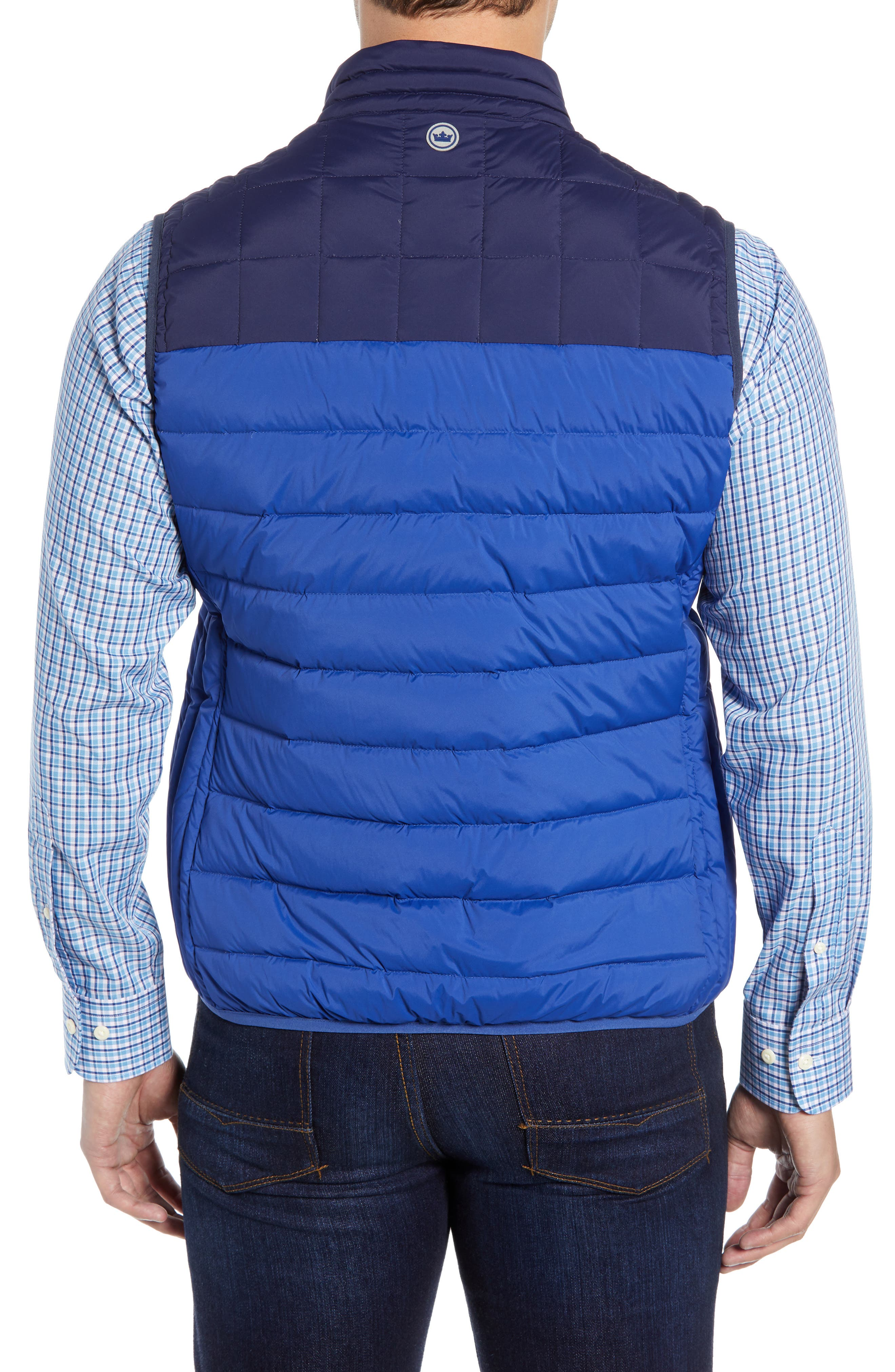 PETER MILLAR, Sail Classic Fit Puffer Vest, Alternate thumbnail 2, color, SAIL