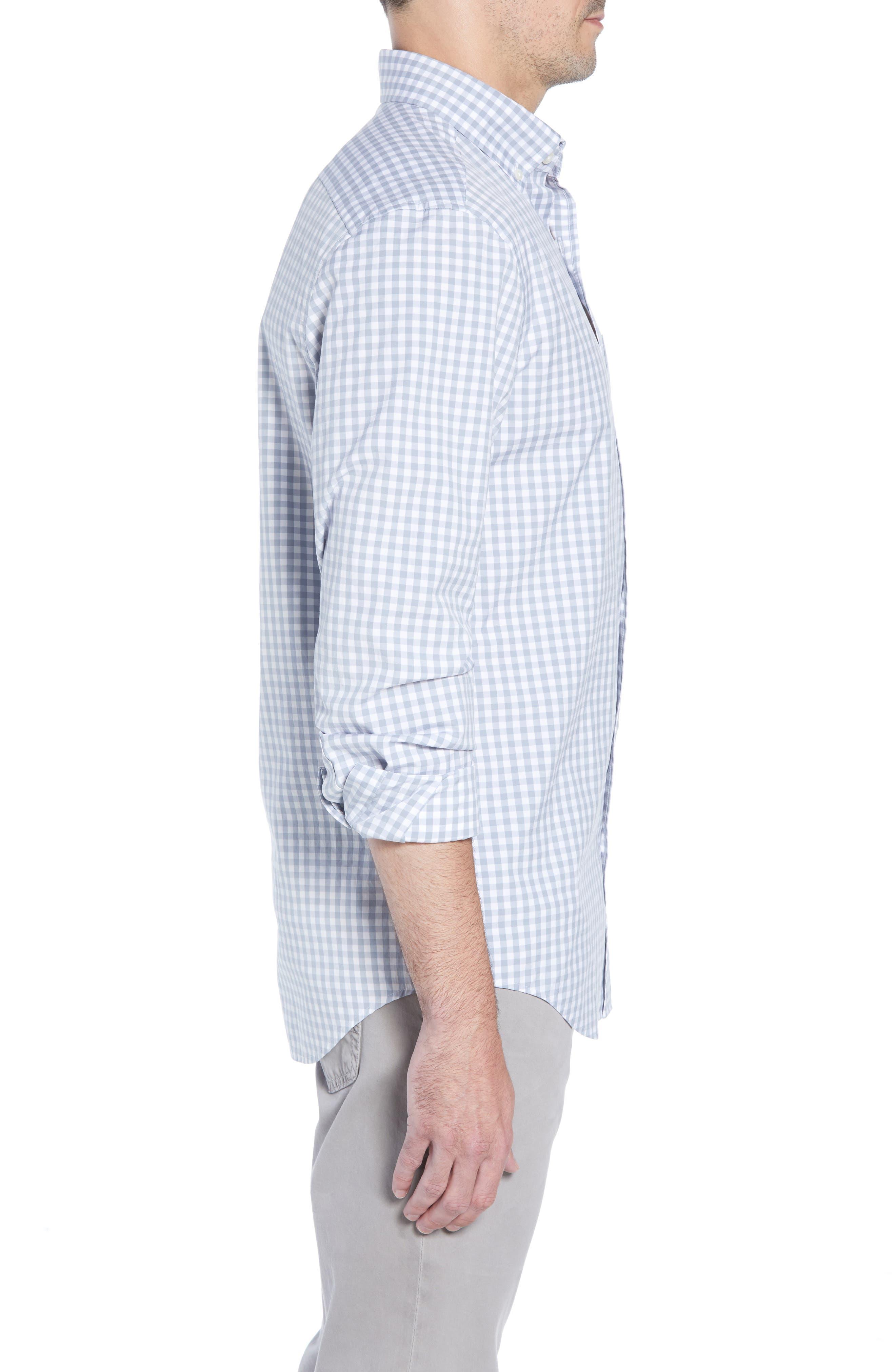 VINEYARD VINES, Carleton Classic Fit Gingham Buttondown Shirt, Alternate thumbnail 4, color, 023