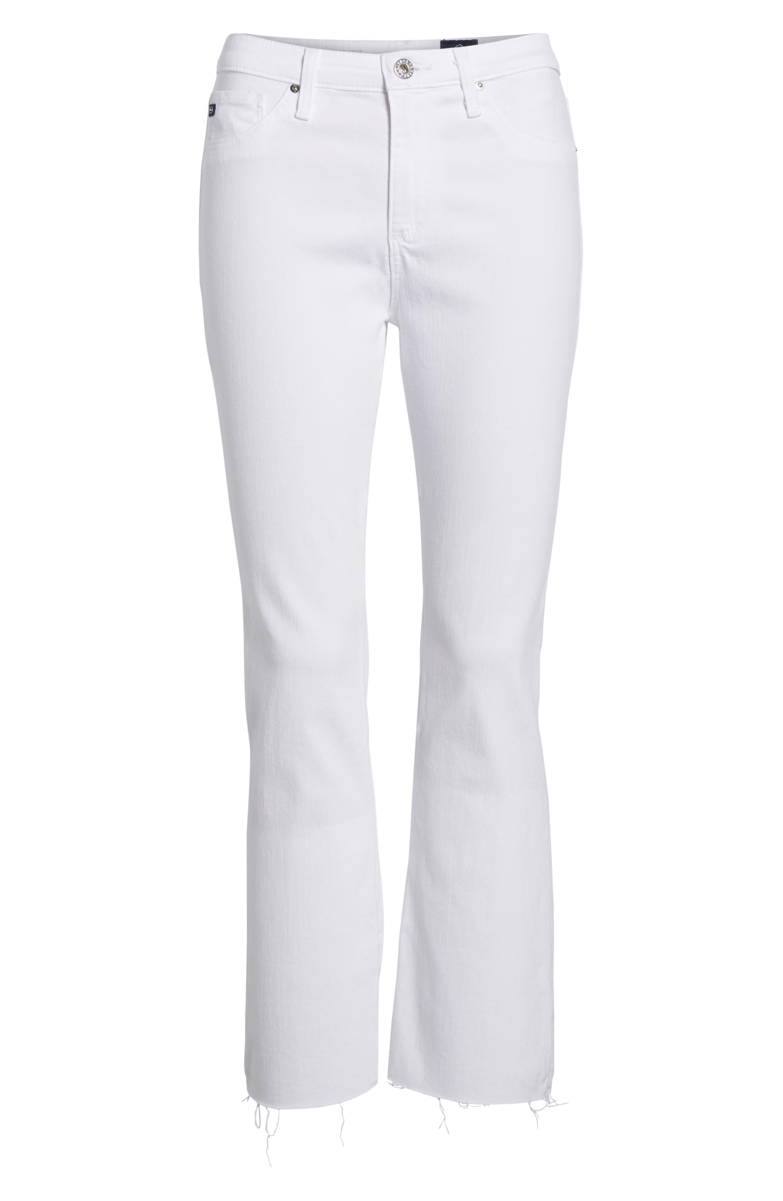 AG, Jodi High Waist Crop Jeans, Alternate thumbnail 7, color, WHITE