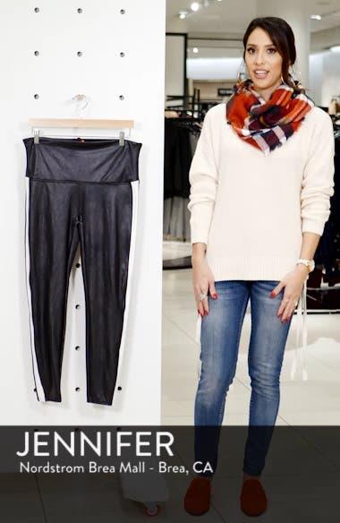 080b1acd1345 SPANX® Side Stripe Faux Leather Leggings (Plus Size)
