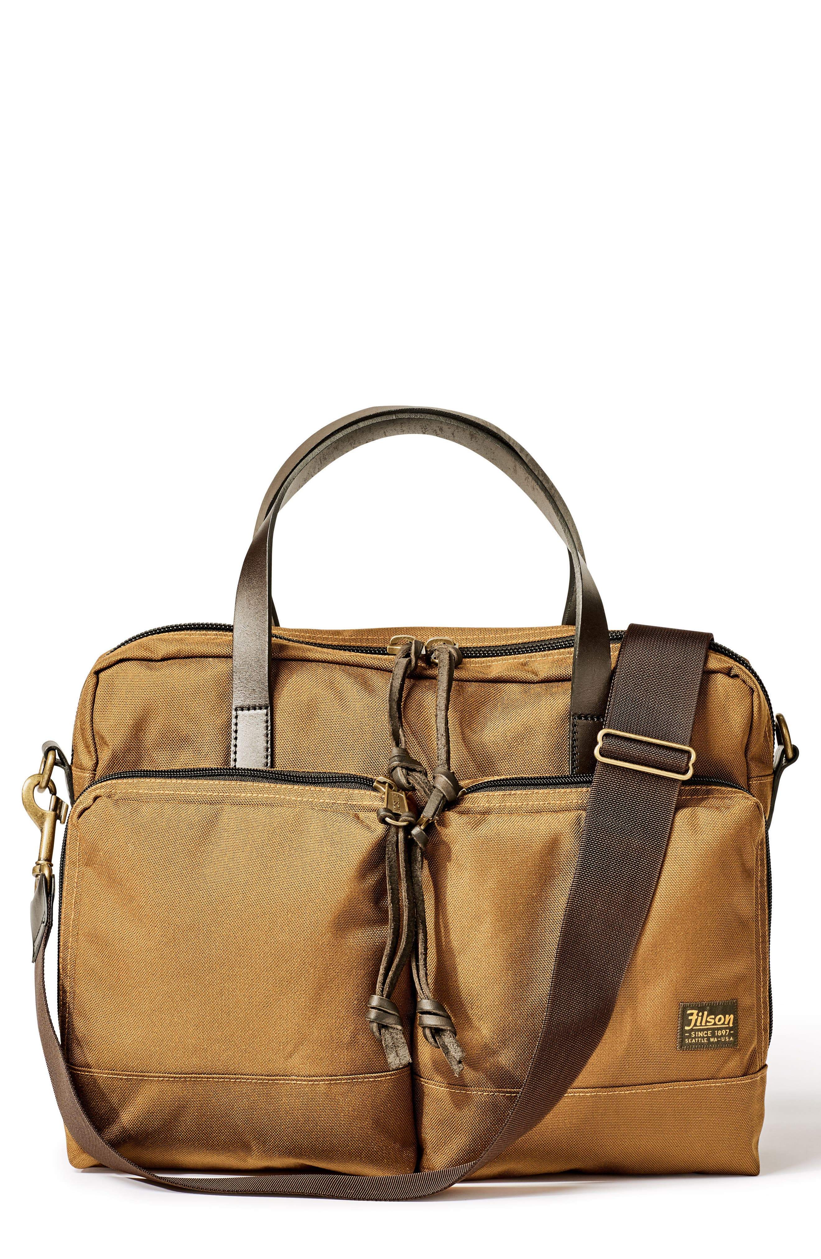 FILSON Dryden Briefcase, Main, color, WHISKEY