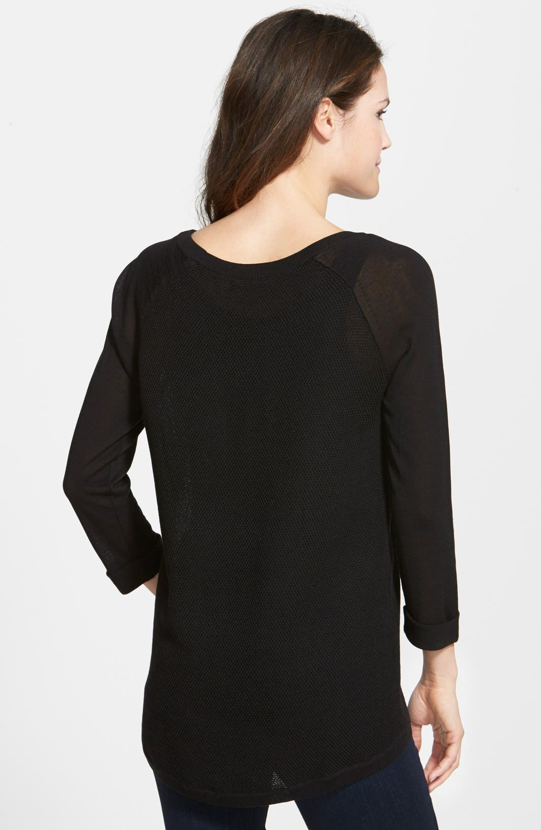 NIC+ZOE, Textured Back Top, Alternate thumbnail 2, color, 004
