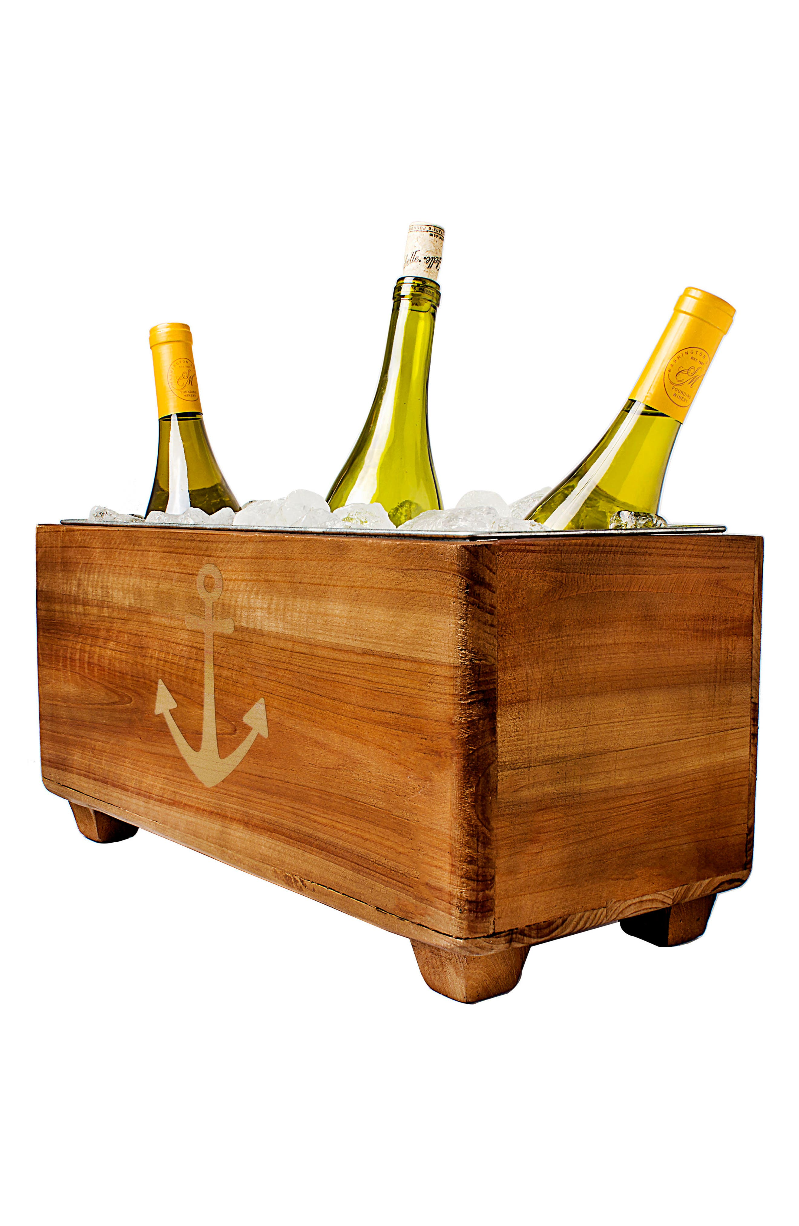 CATHY'S CONCEPTS, Wooden Wine Trough, Alternate thumbnail 4, color, ANCHOR