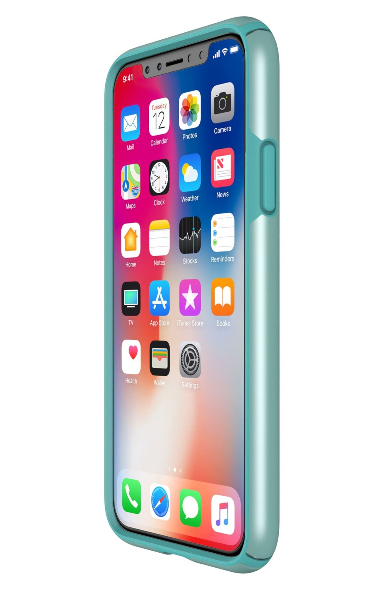 SPECK, iPhone X & Xs Case, Alternate thumbnail 4, color, PEPPERMINT GREEN / TEAL
