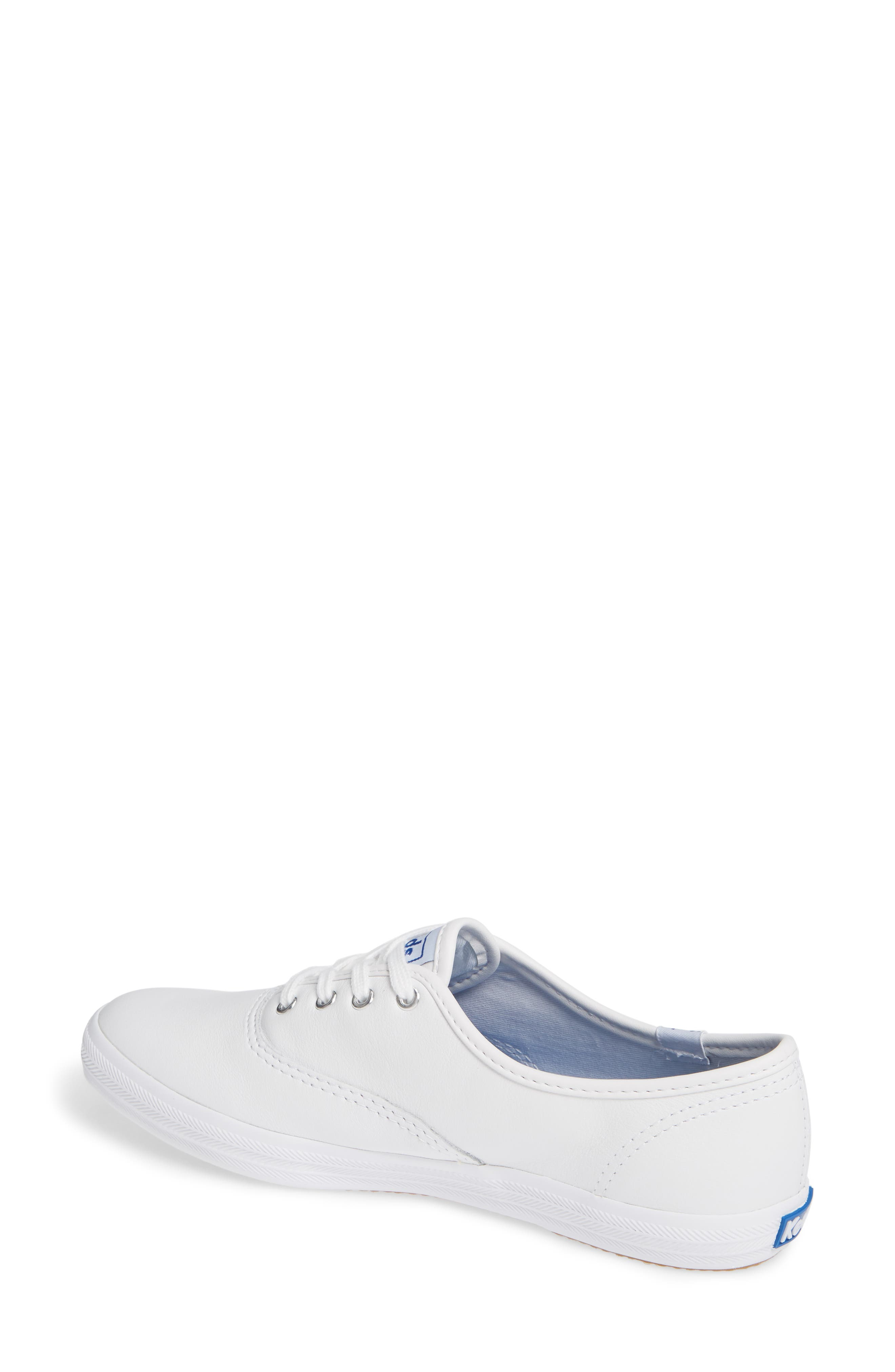 KEDS<SUP>®</SUP>, 'Champion  Leather' Sneaker, Alternate thumbnail 3, color, White