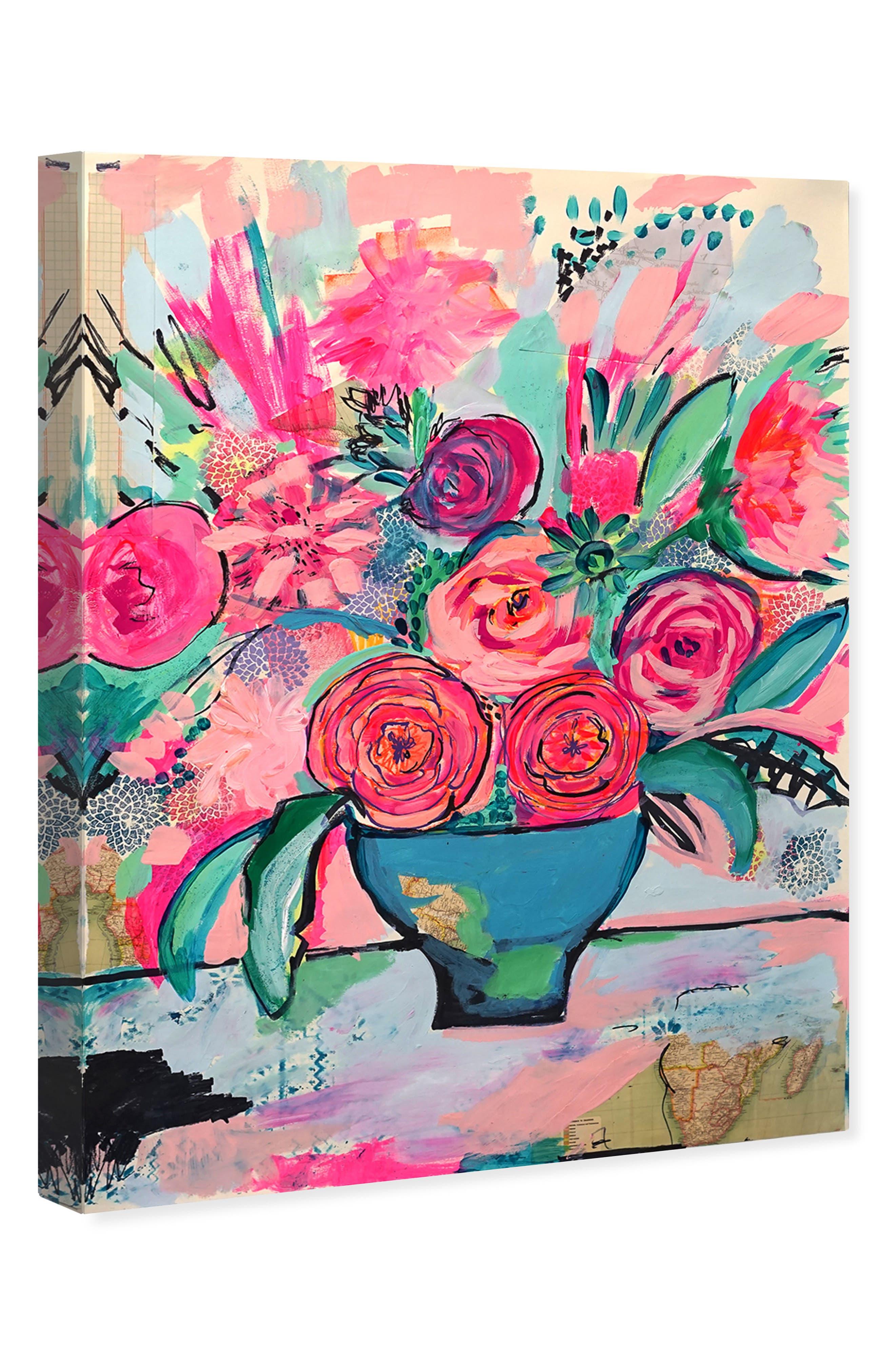 OLIVER GAL, Viva La Vida Canvas Wall Art, Alternate thumbnail 4, color, PINK