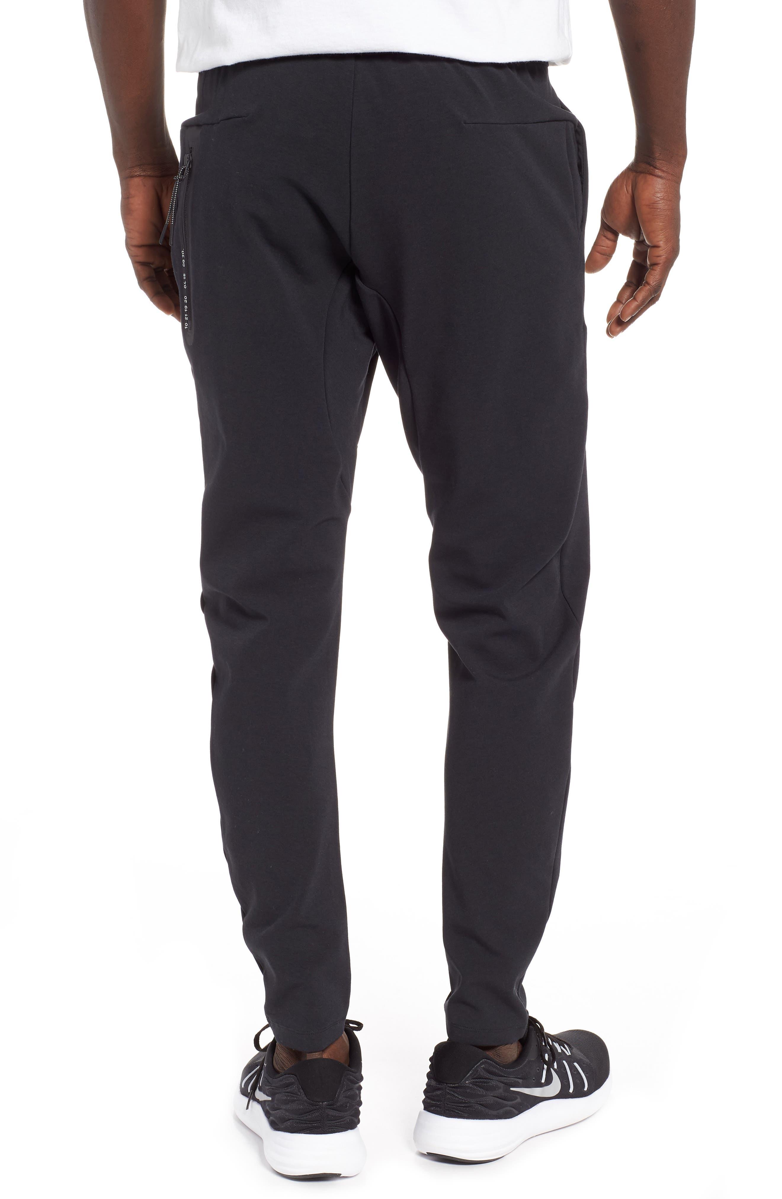 NIKE, Tech Knit Jogger Pants, Alternate thumbnail 2, color, BLACK/ BLACK