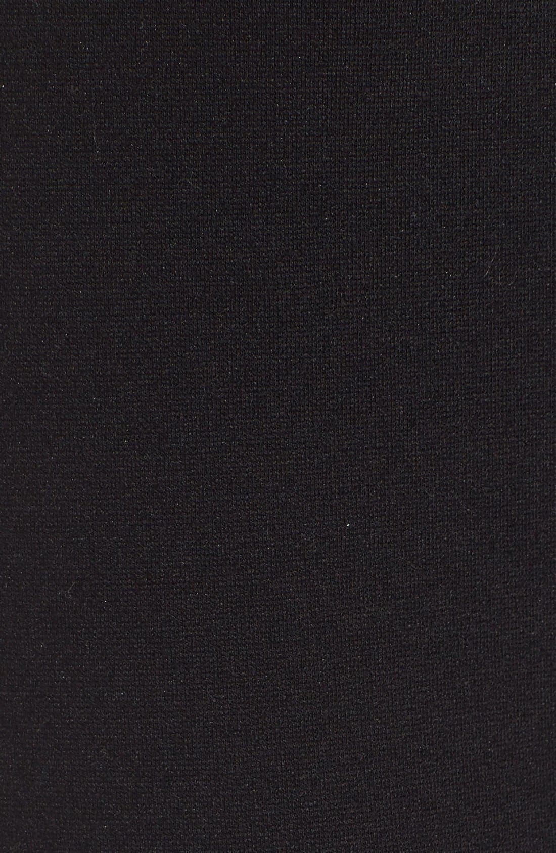 EILEEN FISHER, Slim Ponte Knit Pants, Alternate thumbnail 2, color, BLACK