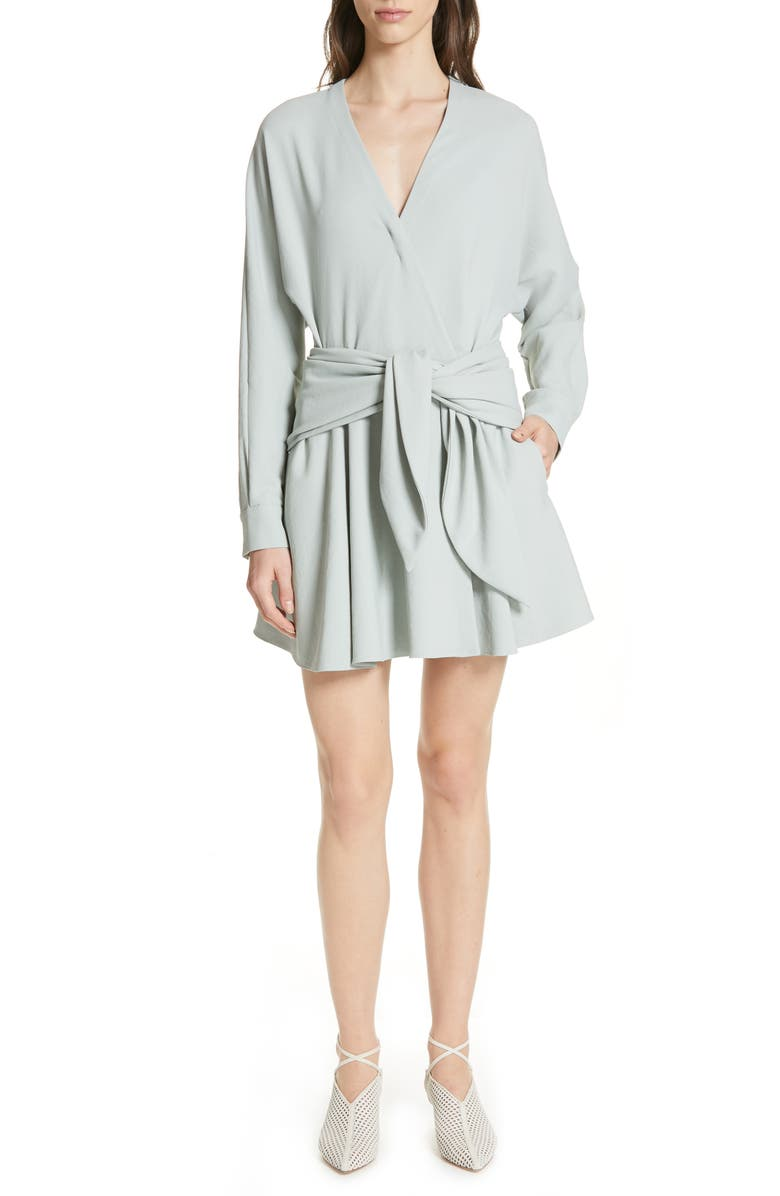 Tibi Dresses CHALKY DRAPE FAUX WRAP DRESS