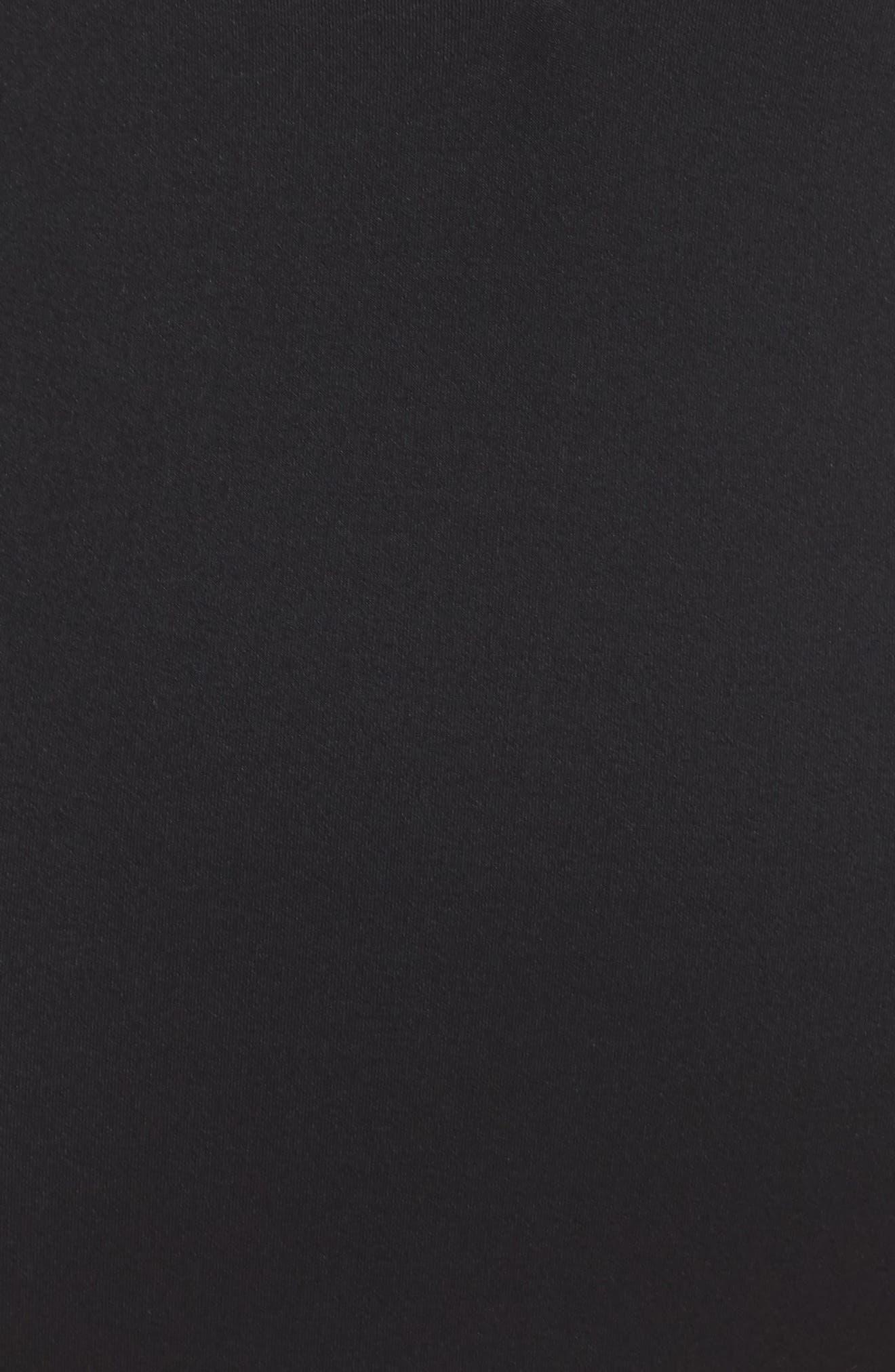BECCA, Color Code Plunge One-Piece Swimsuit, Alternate thumbnail 5, color, BLACK