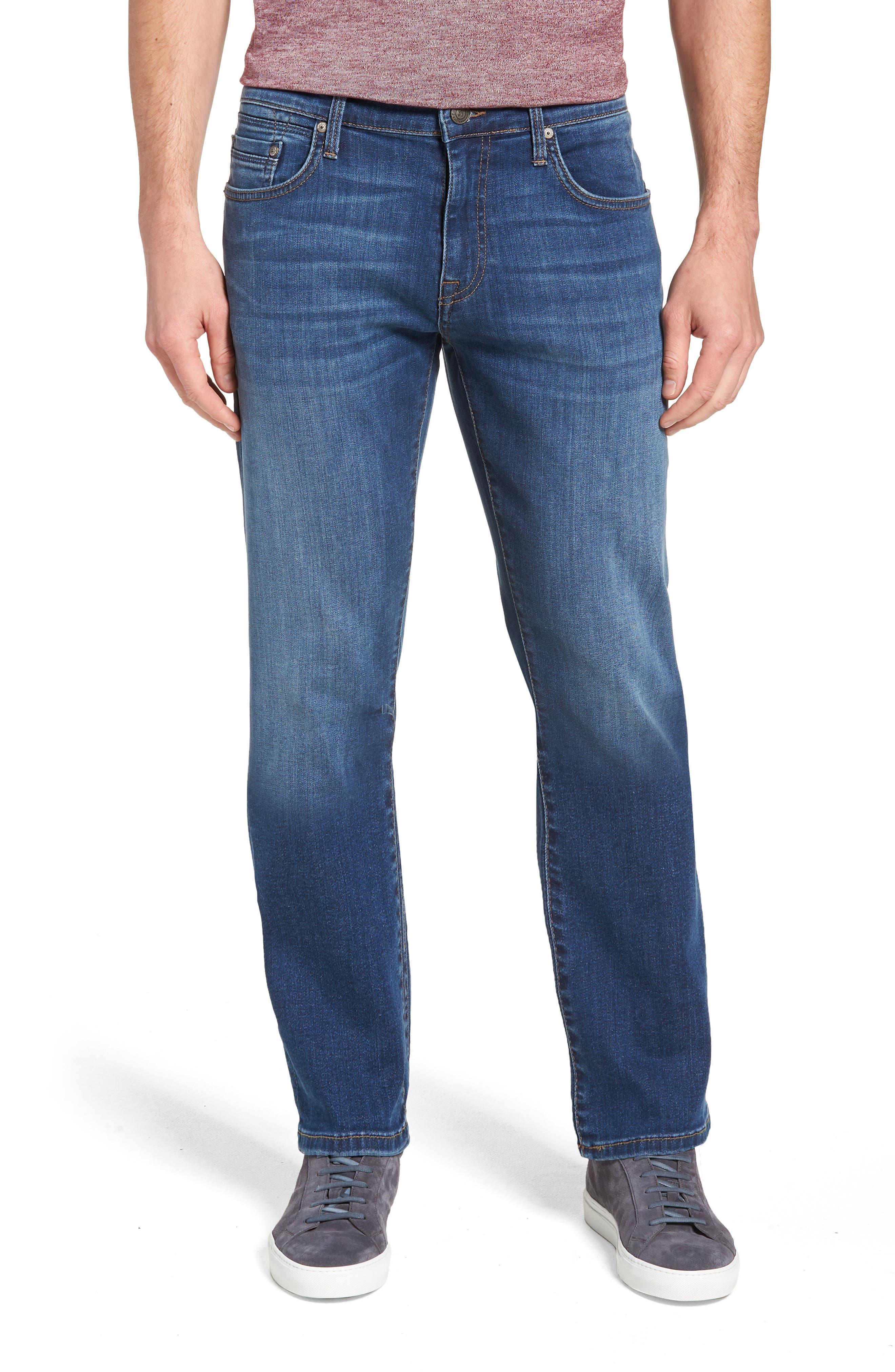 MAVI JEANS, Zach Straight Leg Jeans, Main thumbnail 1, color, DARK USED CAPITOL HILL