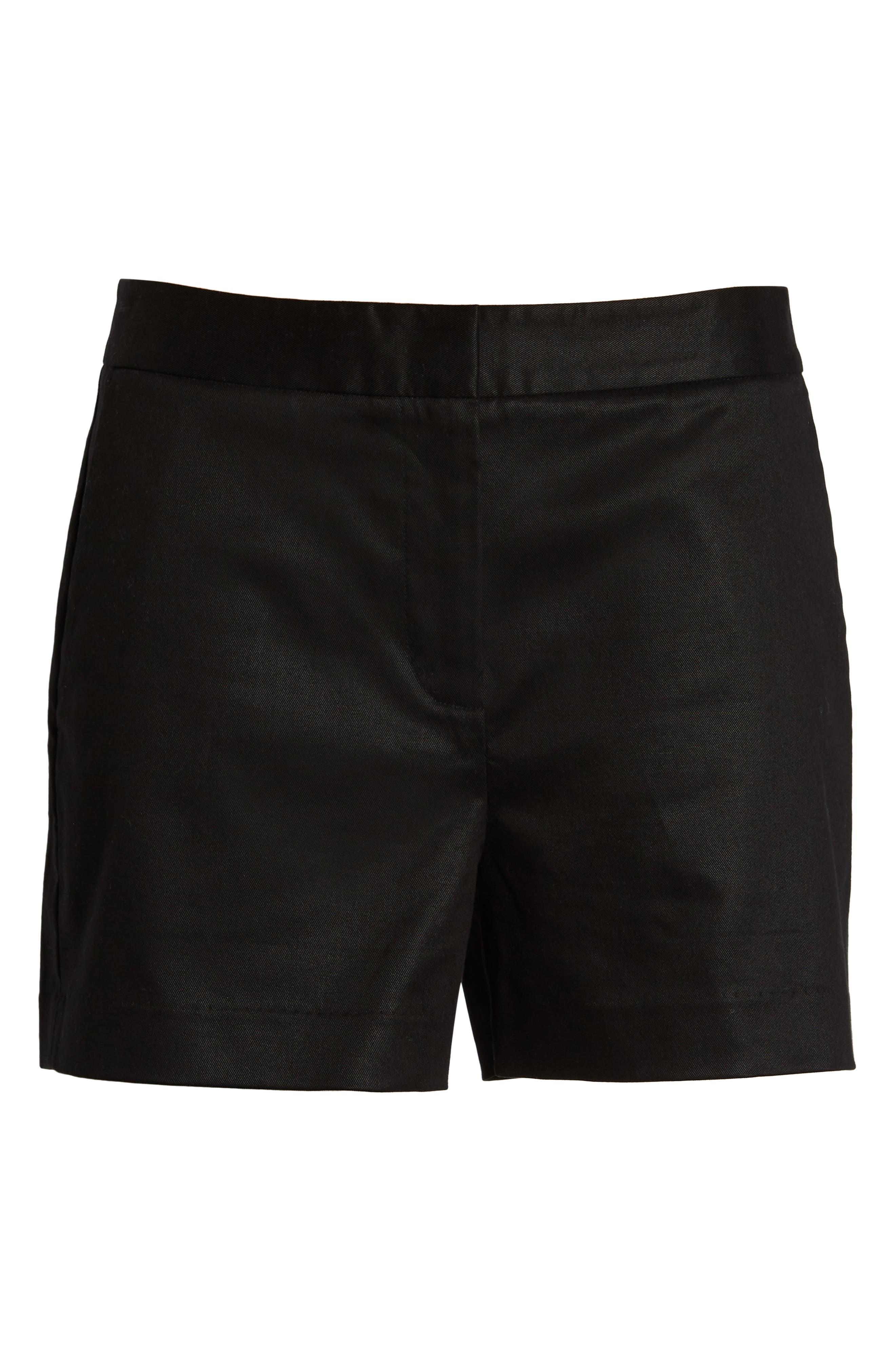 1901, Simple Shorts, Alternate thumbnail 6, color, BLACK