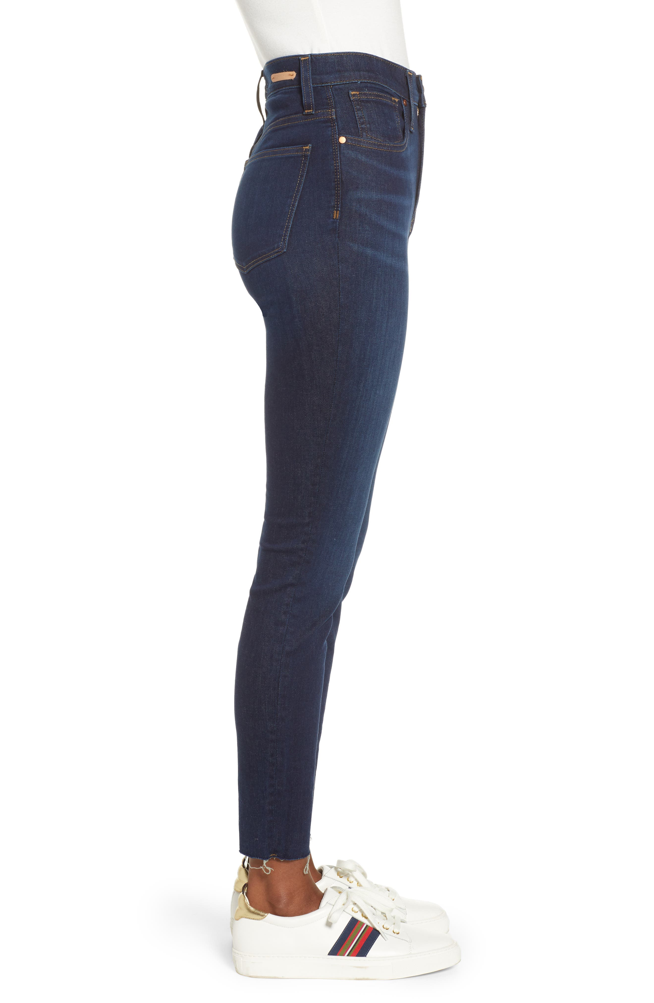 CASLON<SUP>®</SUP>, Sierra High Waist Skinny Jeans, Alternate thumbnail 4, color, 420