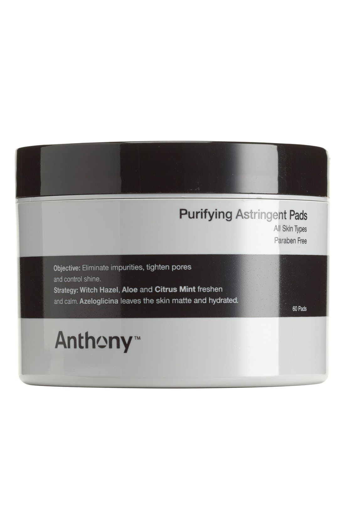 ANTHONY,  Purifying Astringent Pads, Main thumbnail 1, color, NO COLOR