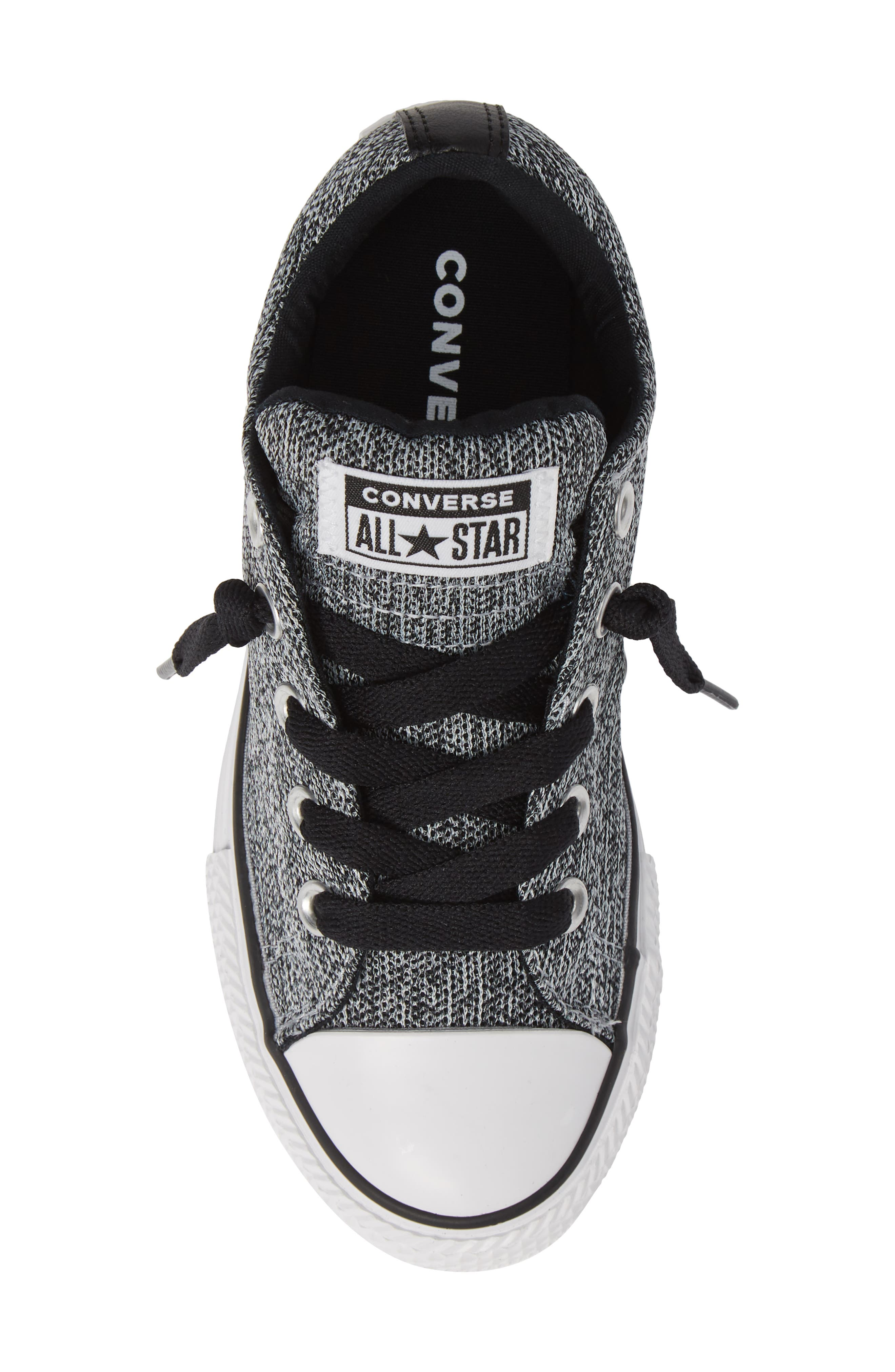CONVERSE, All Star<sup>®</sup> Graphite Textured Street Low Top Sneaker, Alternate thumbnail 5, color, WOLF GREY