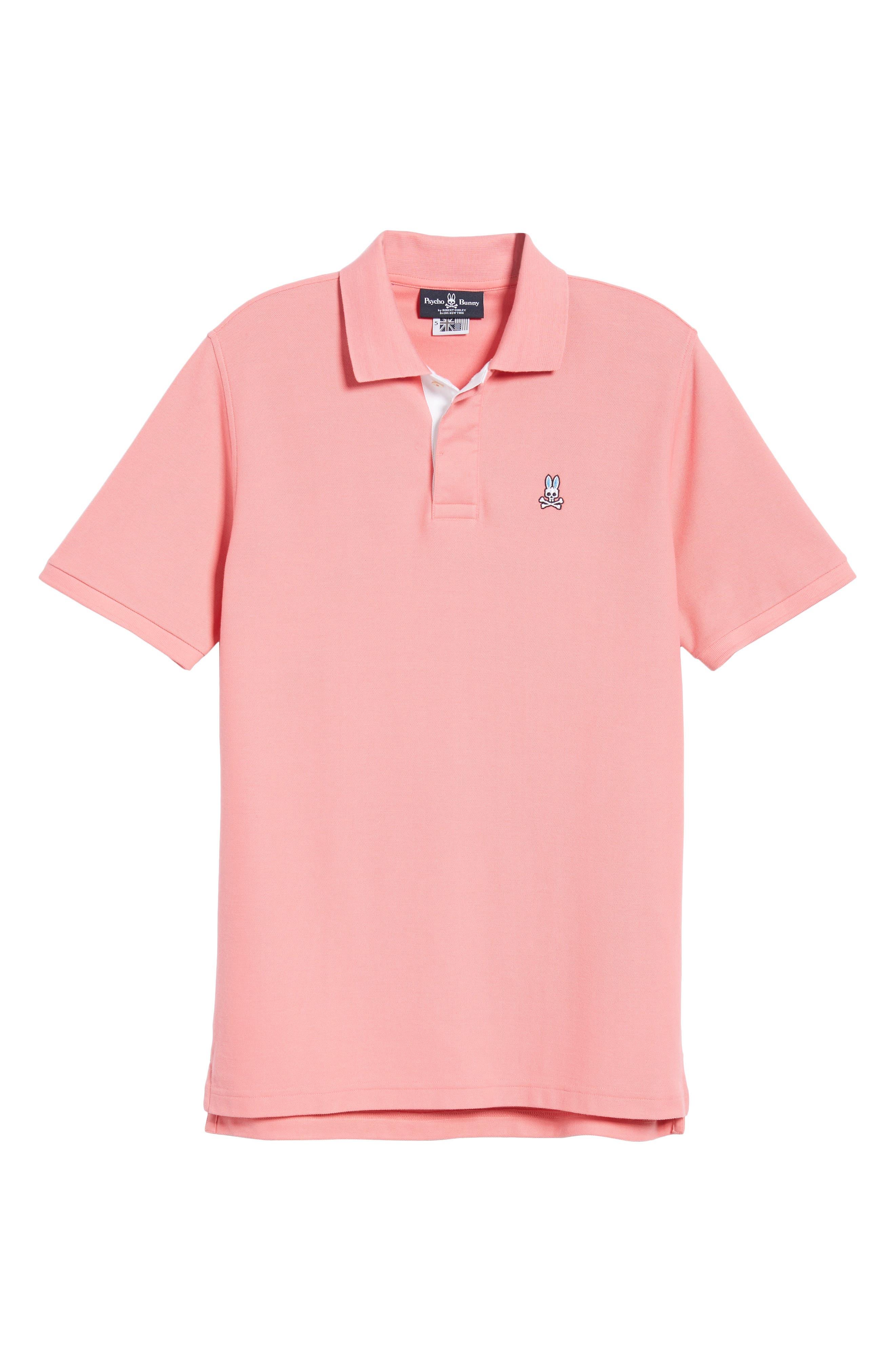 PSYCHO BUNNY, Classic Polo Shirt, Alternate thumbnail 6, color, 498