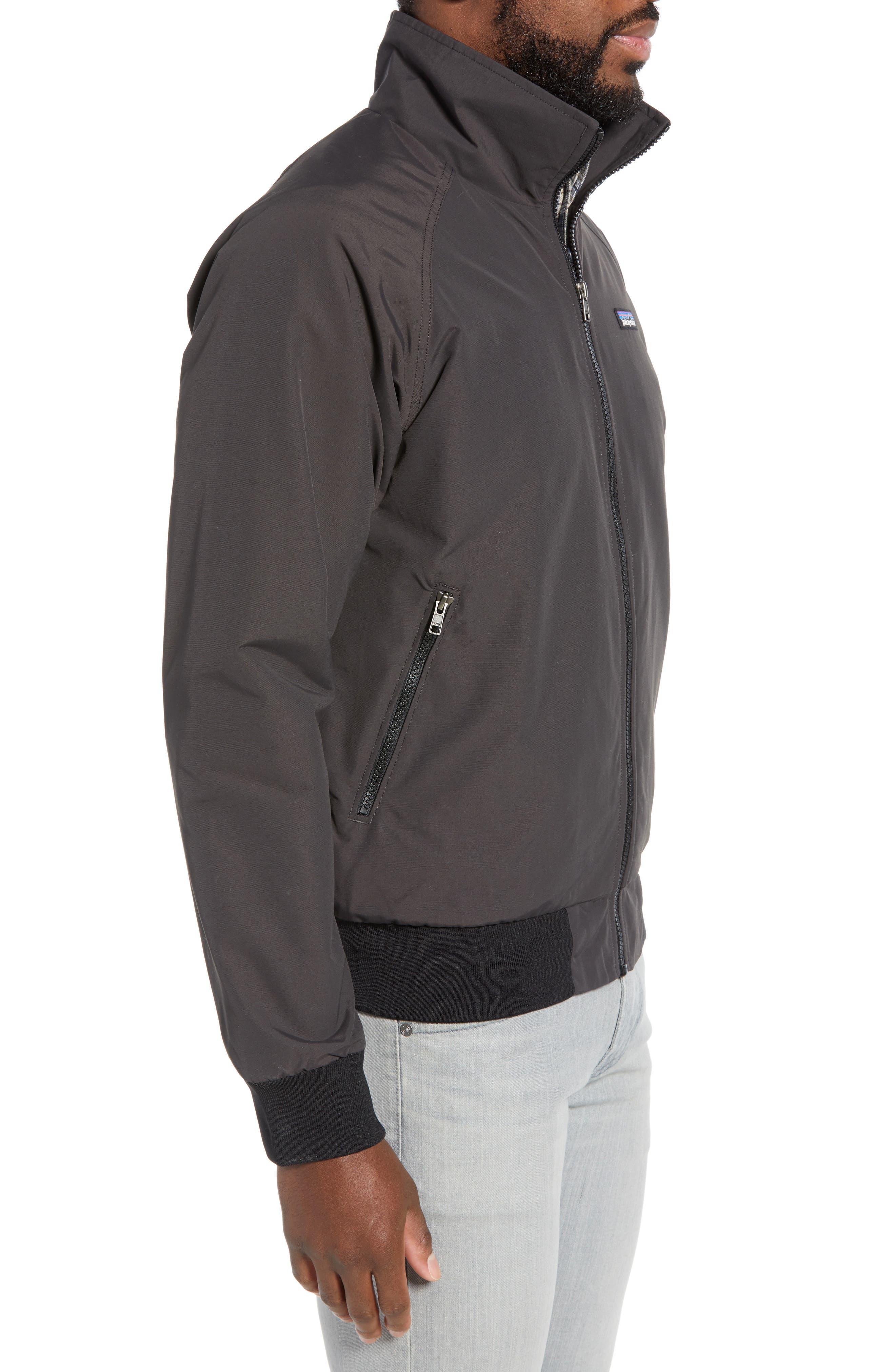 PATAGONIA, Baggies Wind & Water Resistant Jacket, Alternate thumbnail 4, color, INK BLACK