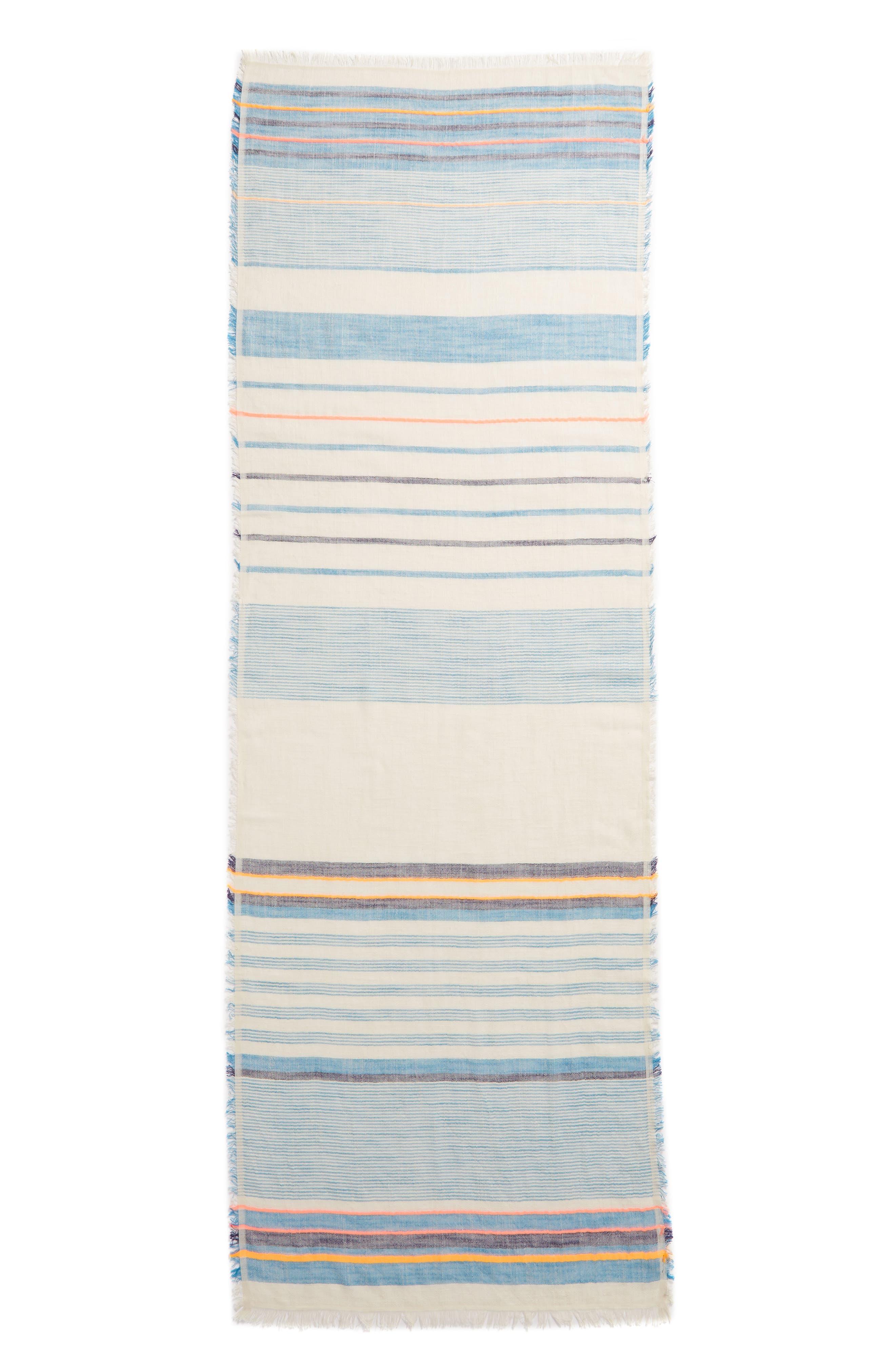 ECHO, Cabana Stripe Scarf, Alternate thumbnail 3, color, 400
