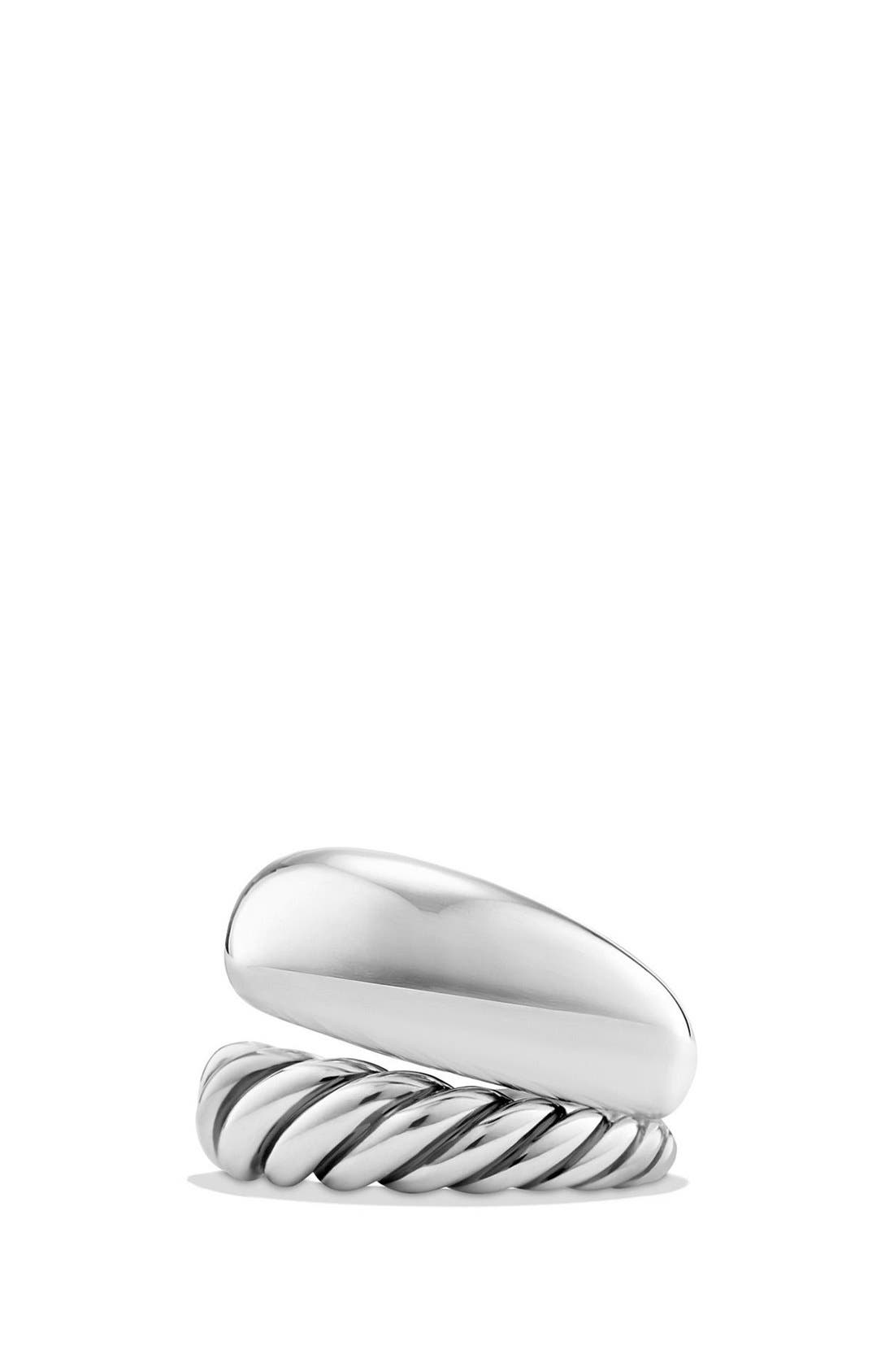 DAVID YURMAN, 'Pure Form' Two Row Ring, Main thumbnail 1, color, SILVER