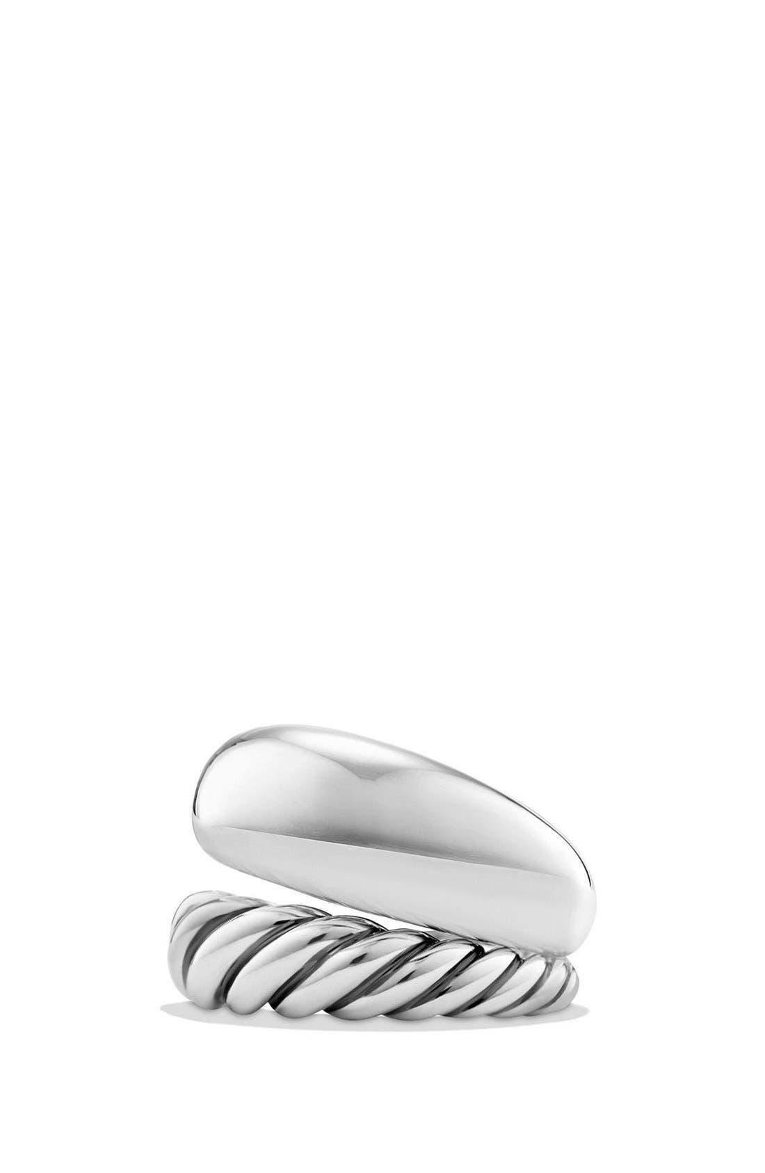 DAVID YURMAN 'Pure Form' Two Row Ring, Main, color, SILVER