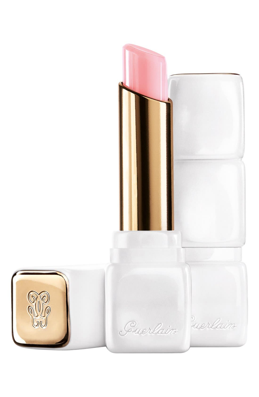 GUERLAIN, Bloom of Rose - KissKiss Roselip Hydrating & Plumping Tinted Lip Balm, Main thumbnail 1, color, R371 MORNING ROSE