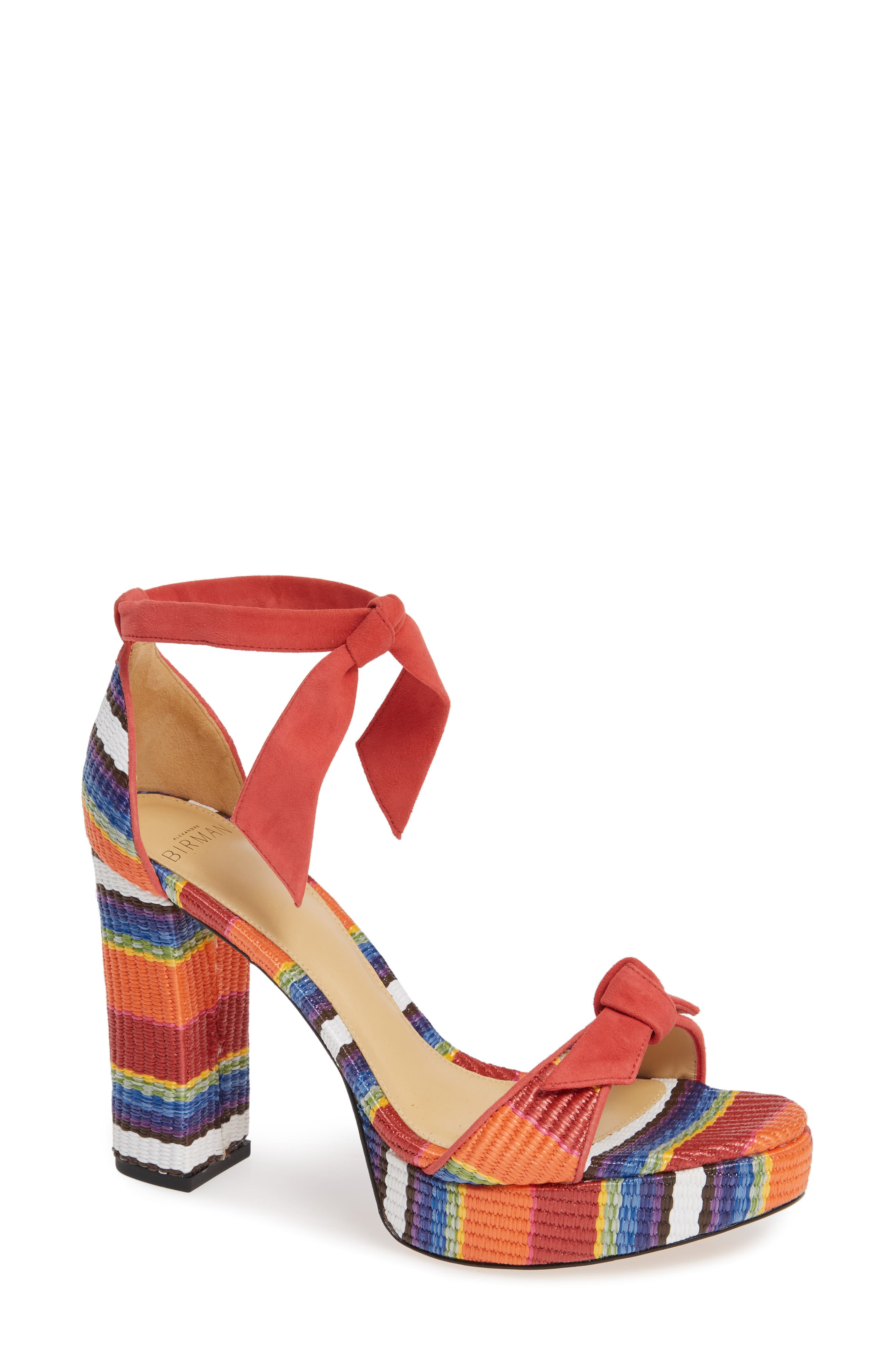 ALEXANDRE BIRMAN Clarita Platform Sandal, Main, color, CORAL MULTI